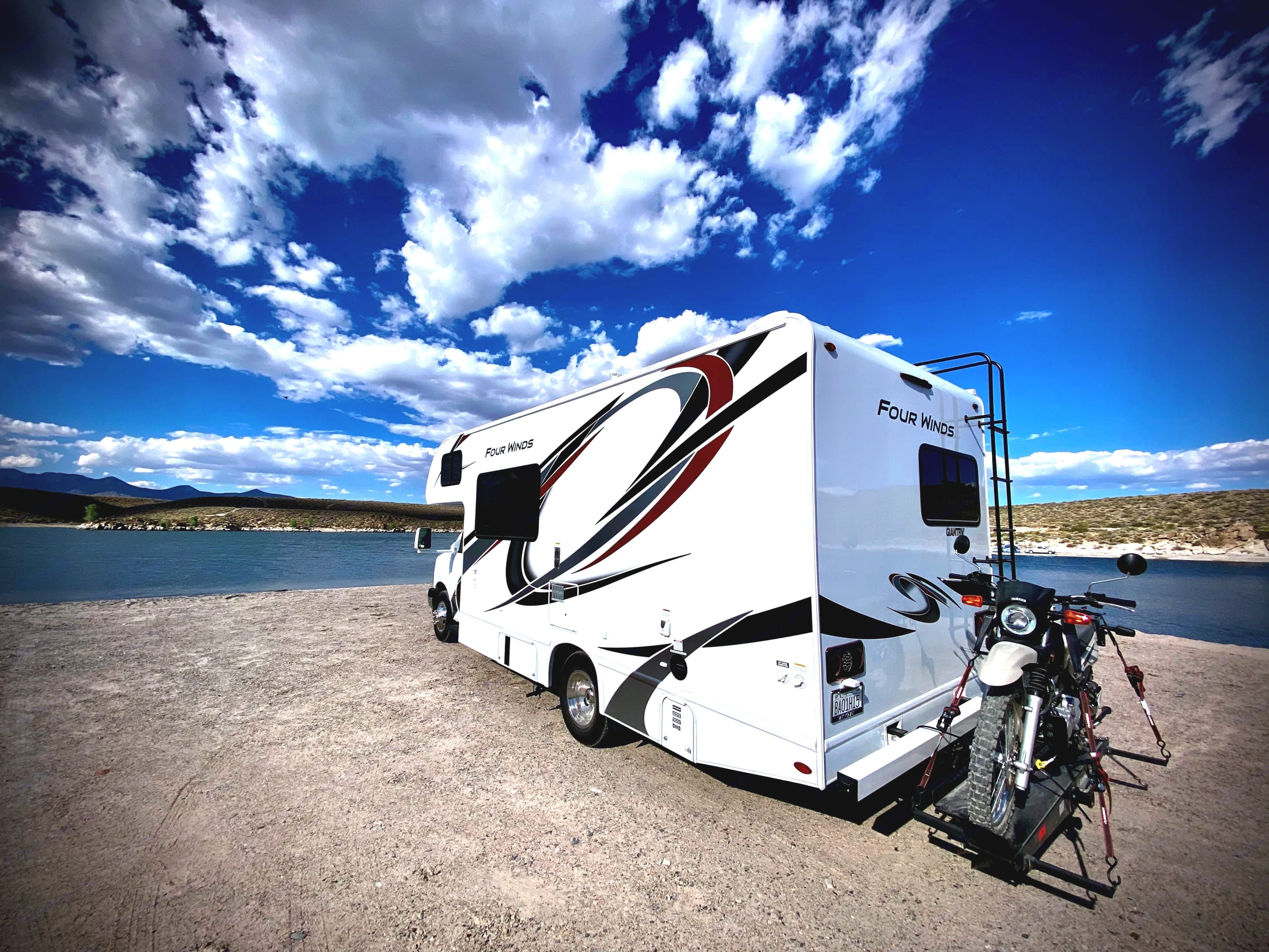 Optional Yamaha XT250  trail motorcycle, license required.. Thor Motor Coach Four Winds 2021