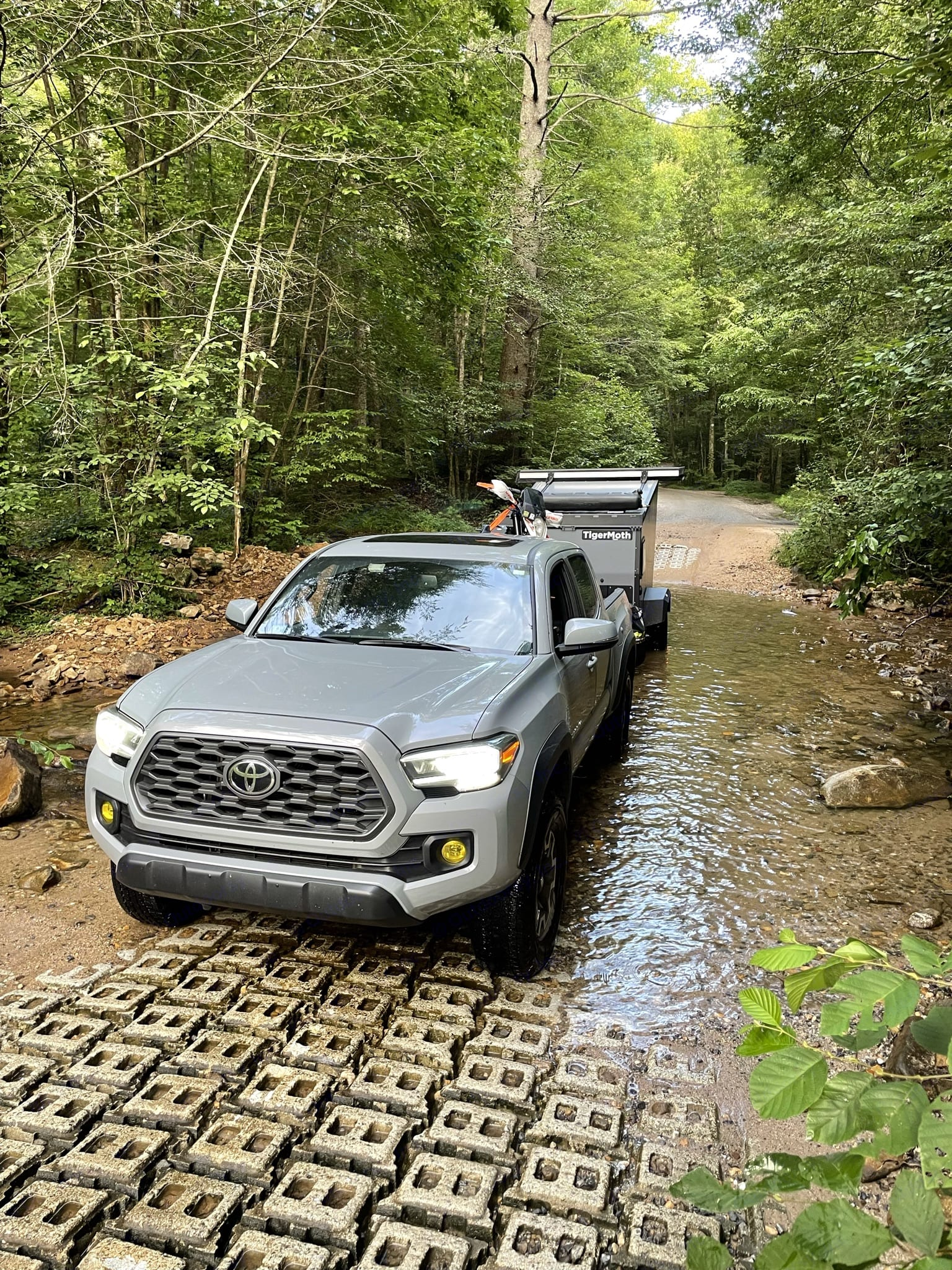 Crossing a tributary of the Chattahoochee River, Georgia. TAXA Outdoors Tigermoth Camper 2019