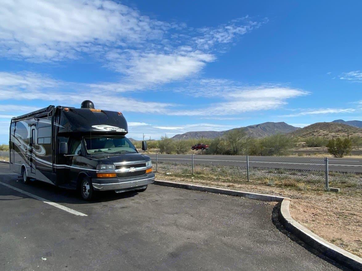 Traveling through Texas. Thor Motor Coach Chateau Citation 2011