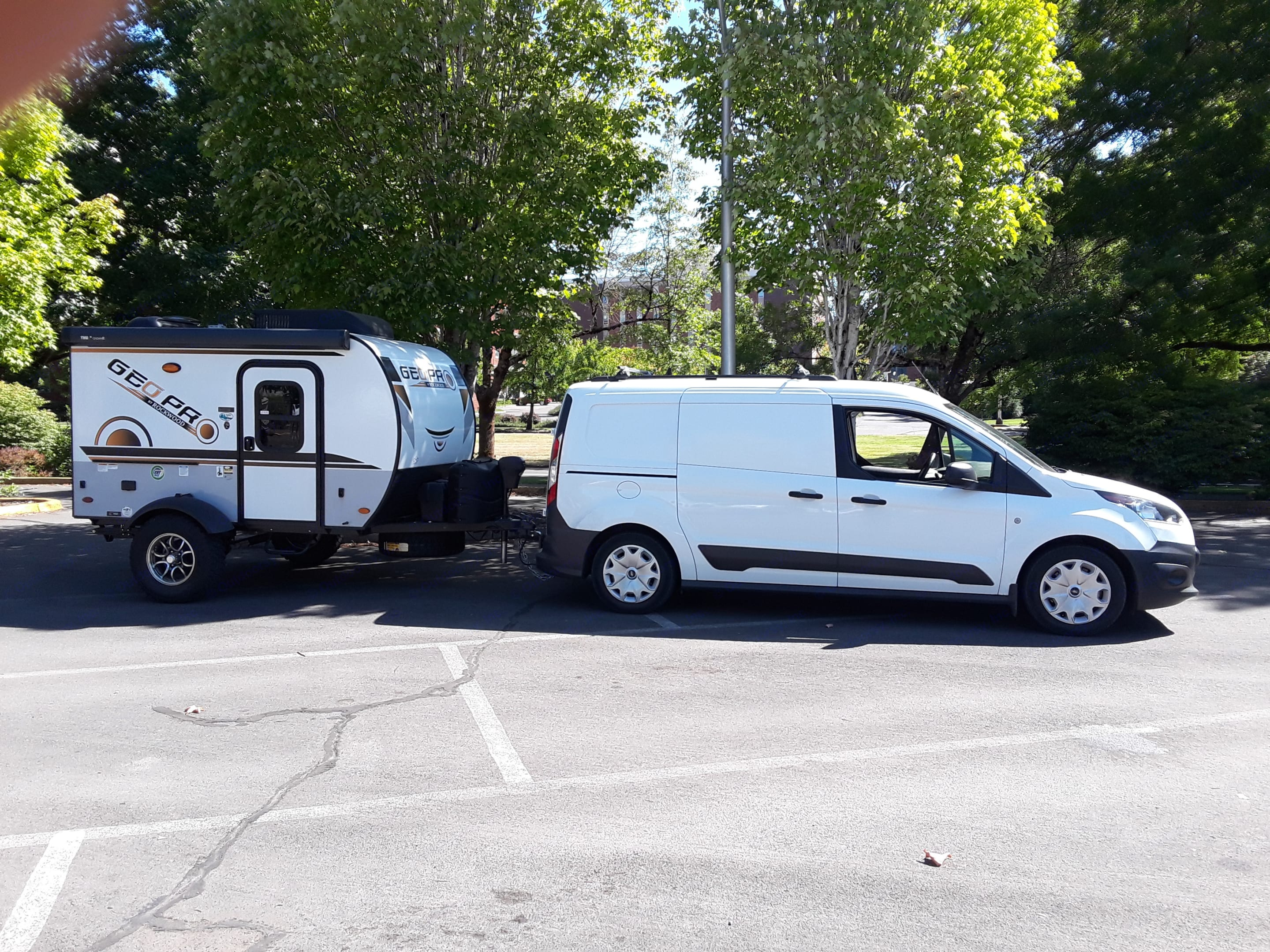 GeoPro towed by a Ford Transit Connect.. Other Other 2021