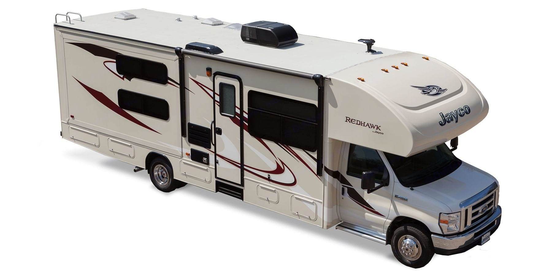 Our RV has a second air conditioner in place of the skylight or what we call a night zone providing white noise and temperatures to 65F. Jayco Redhawk 2016