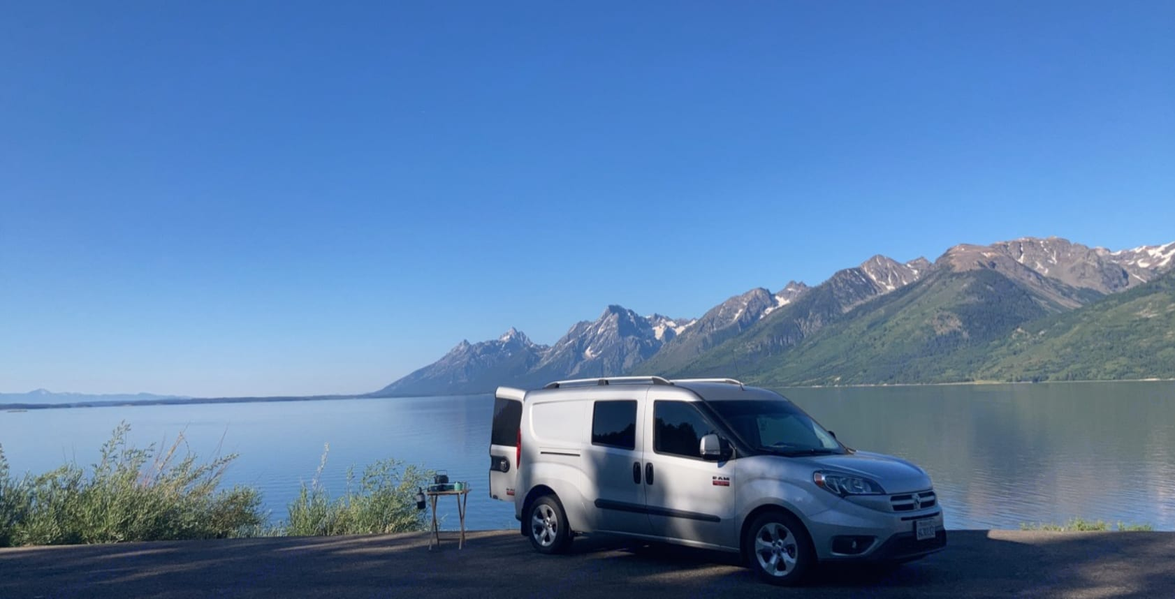 Morning coffee and breakfast with the included propane stove, kettle, pot and pan. . Dodge Sprinter 2015