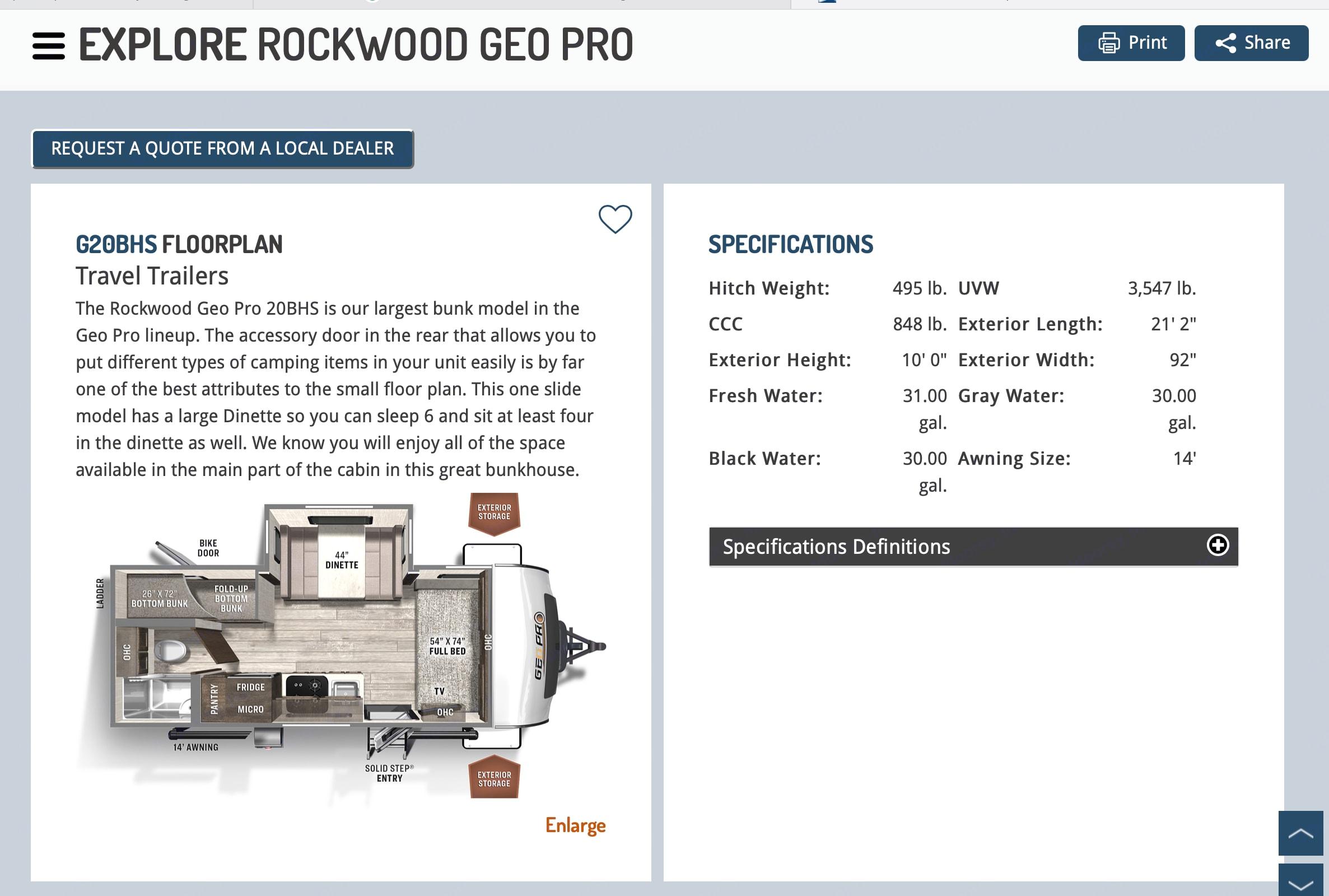 Forest River Rockwood 2020