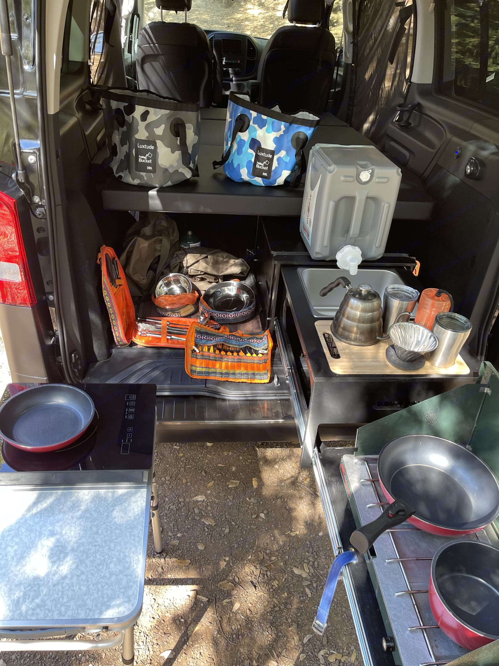 Induction cook top, outdoor table all the pots and pans cookware you will need  and so much more.. Mercedes-Benz Sprinter 2020