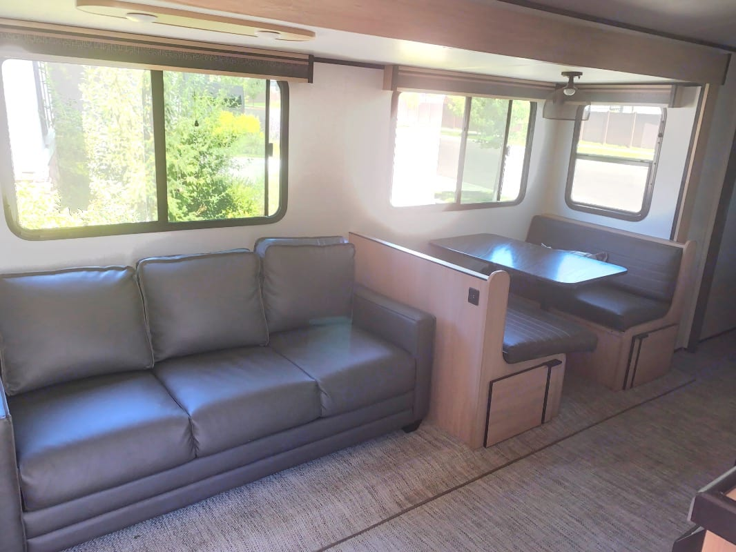 Couch and Dinette turn into beds.. Cruiser Rv Corp Radiance 2021