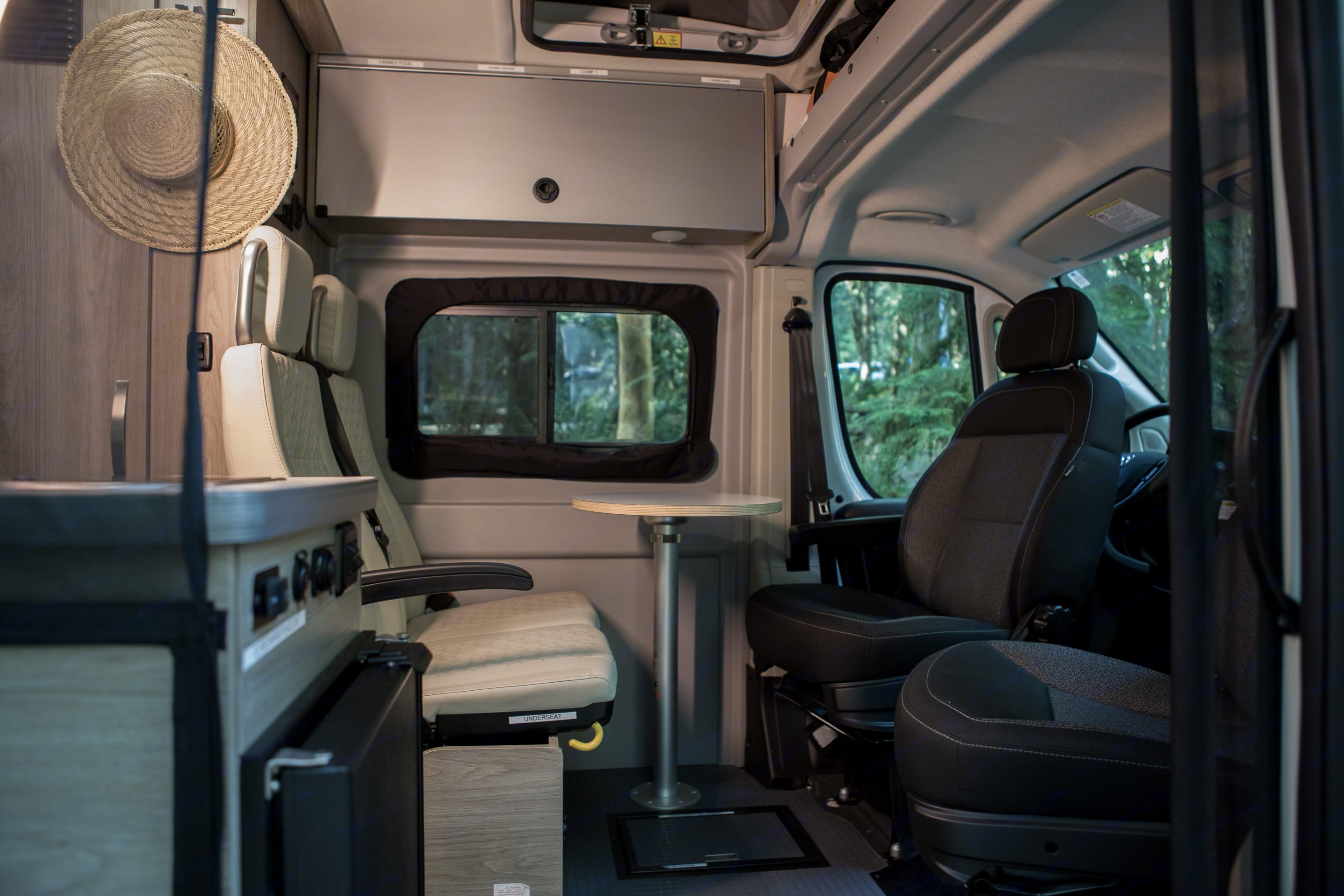 Both front seats swivel for everyone to be in on the fun. Winnebago Solis 2022