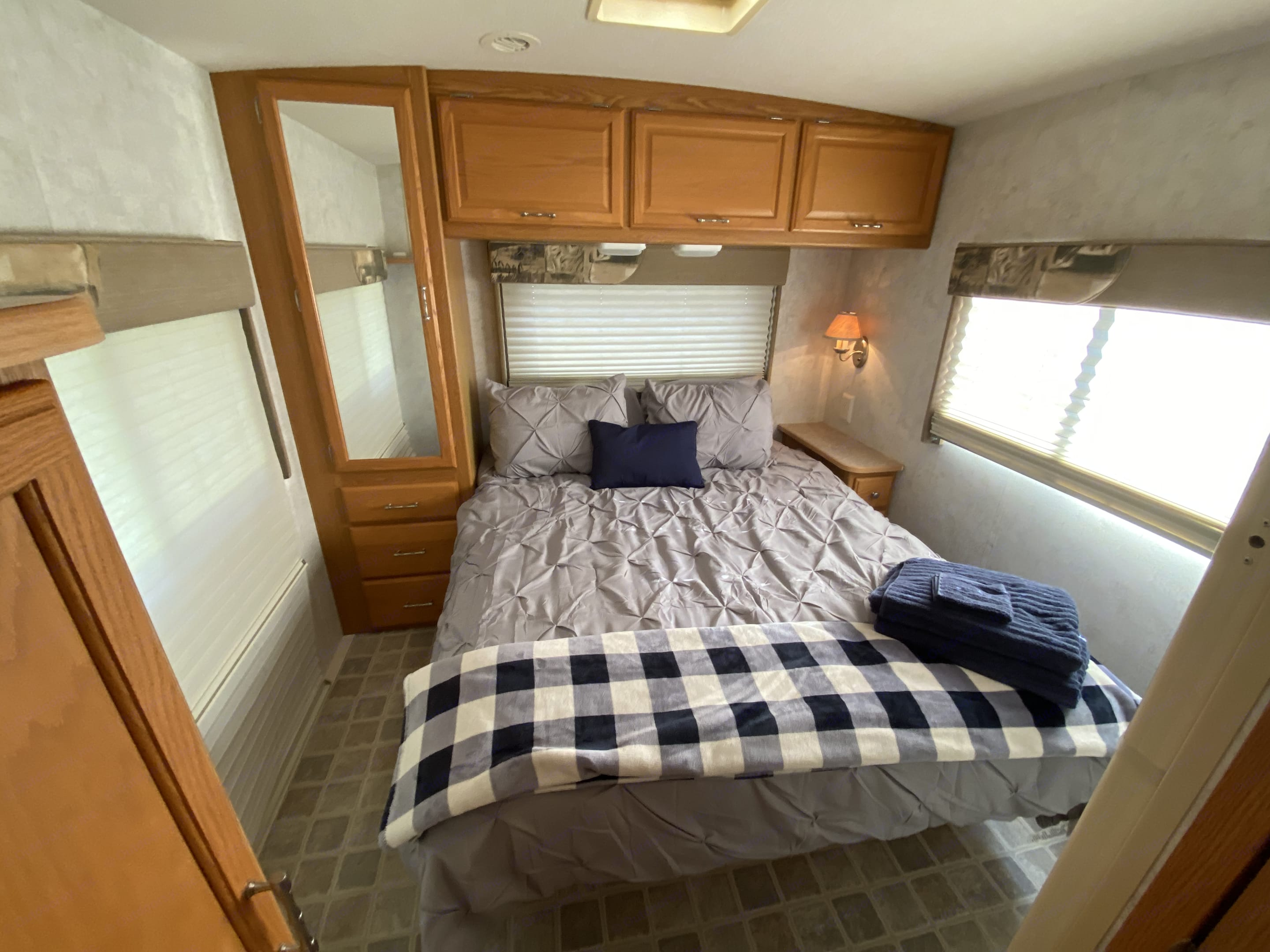 One of our favorite rooms. You can close doors for privacy, and snuggle up and hide away!. Winnebago Outlook 2006