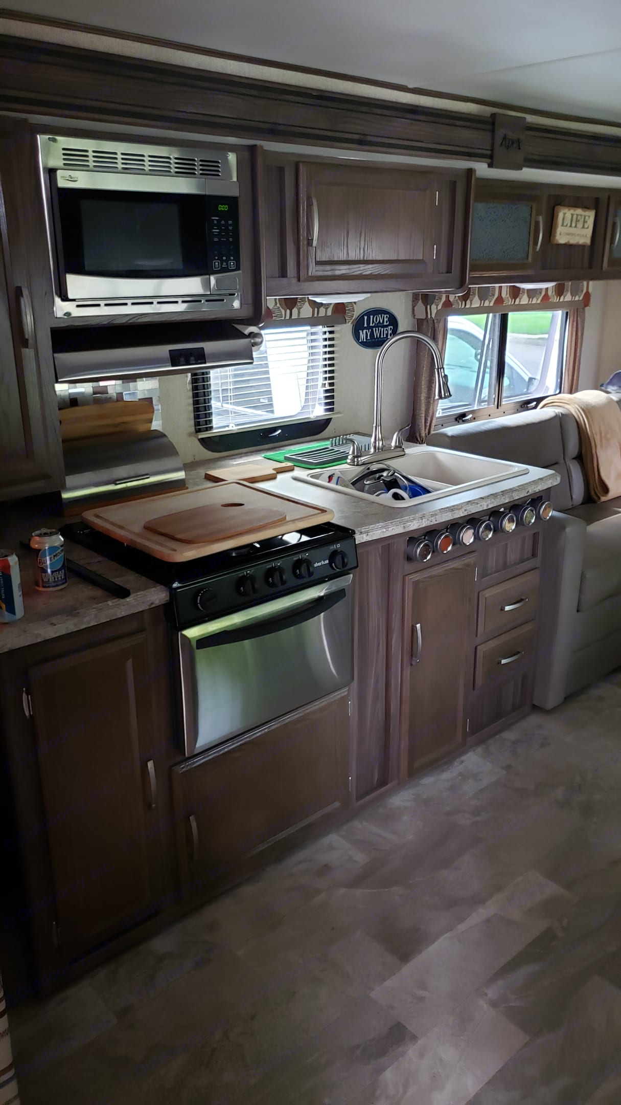 Great prep and cooking area.. Coachmen Apex 2017