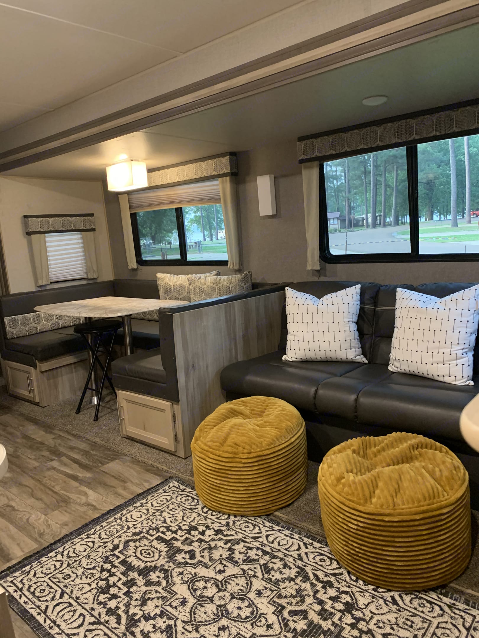 Couch makes into full size bed. . Coachmen Catalina 2021