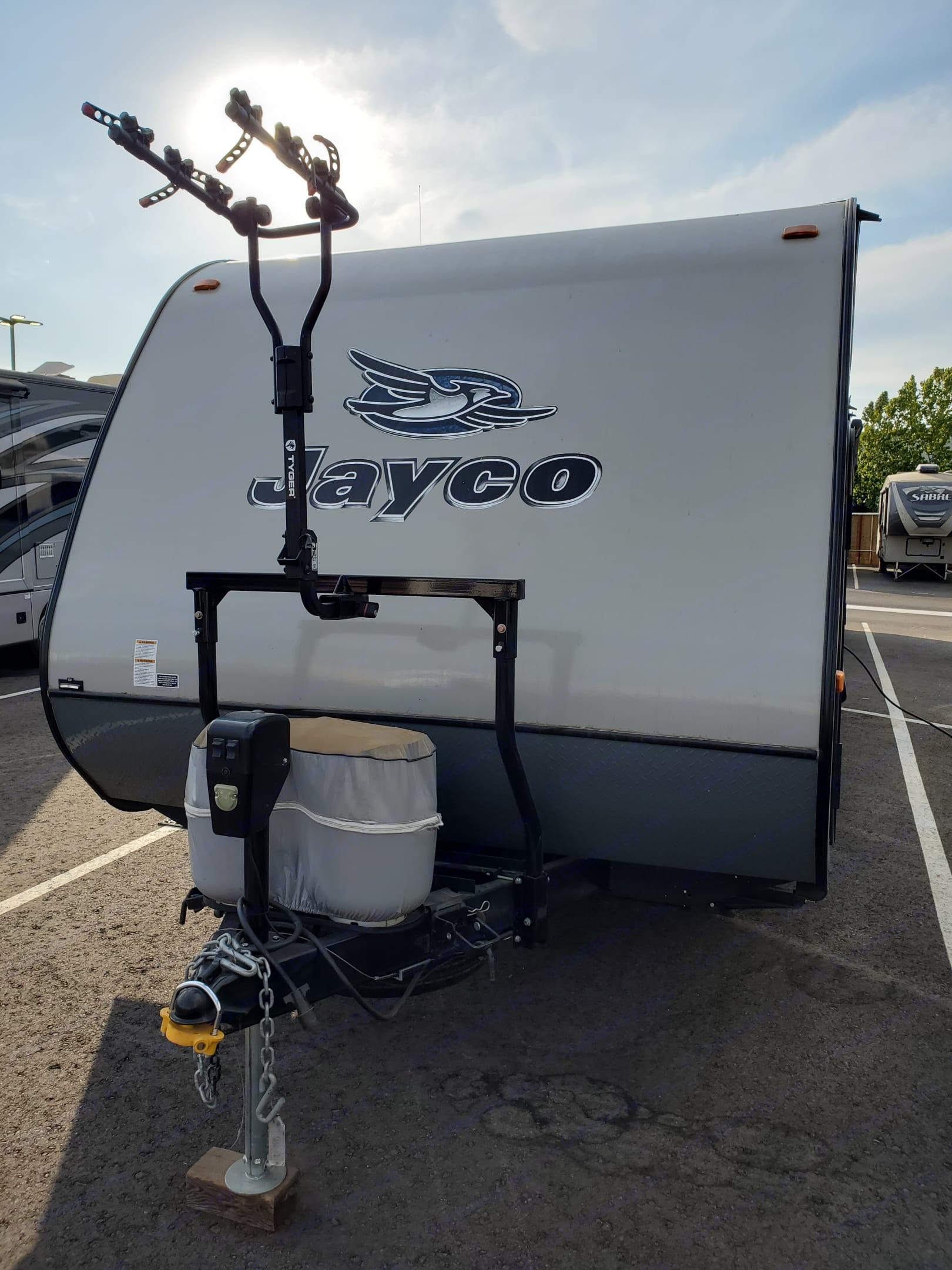 2 - 20lb propane tanks. Jayco Jay Feather Ultra Lite 2015