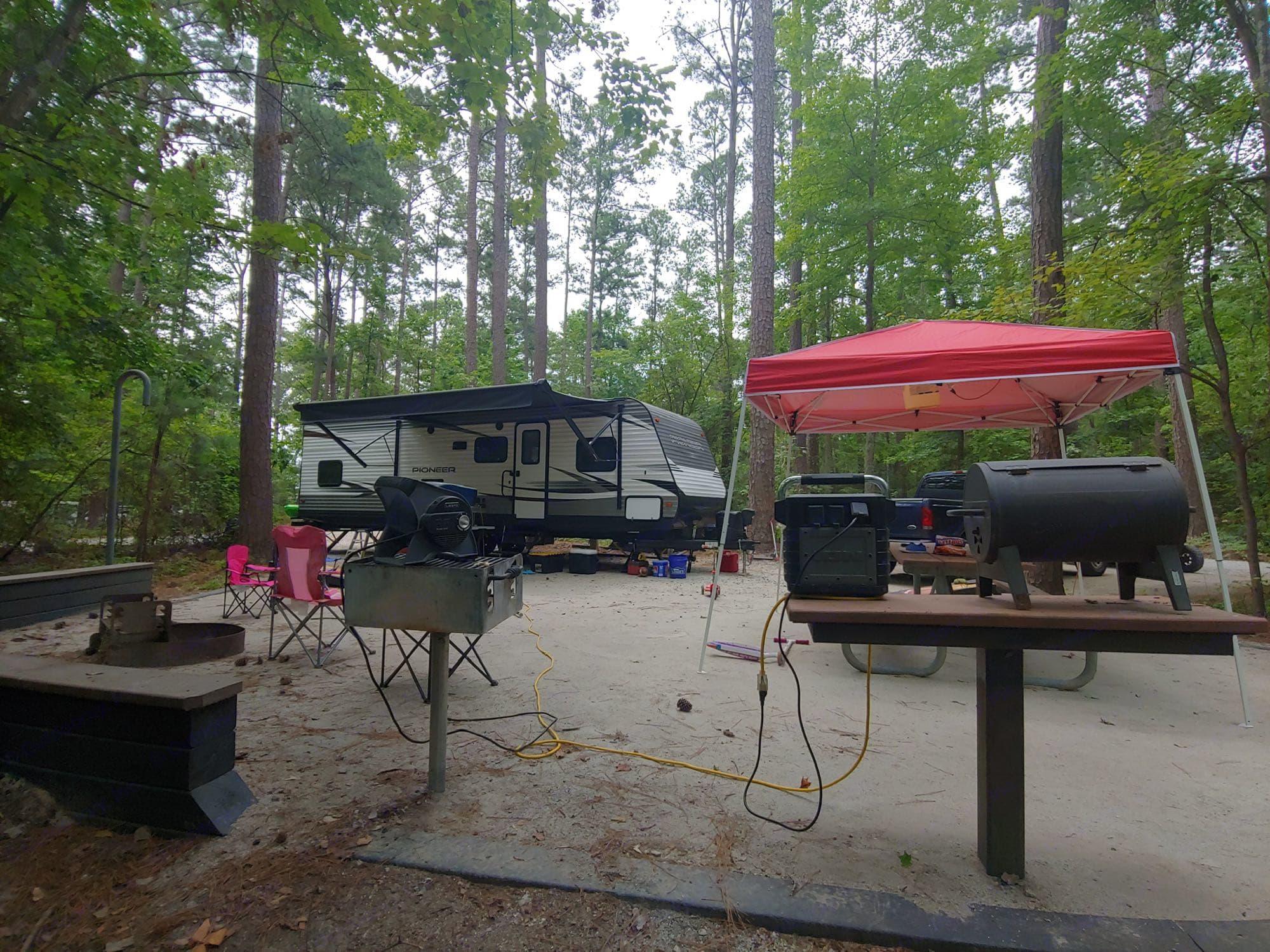 Camping at Ridge Road campground on Lake Thurmond.. Heartland Pioneer 2019