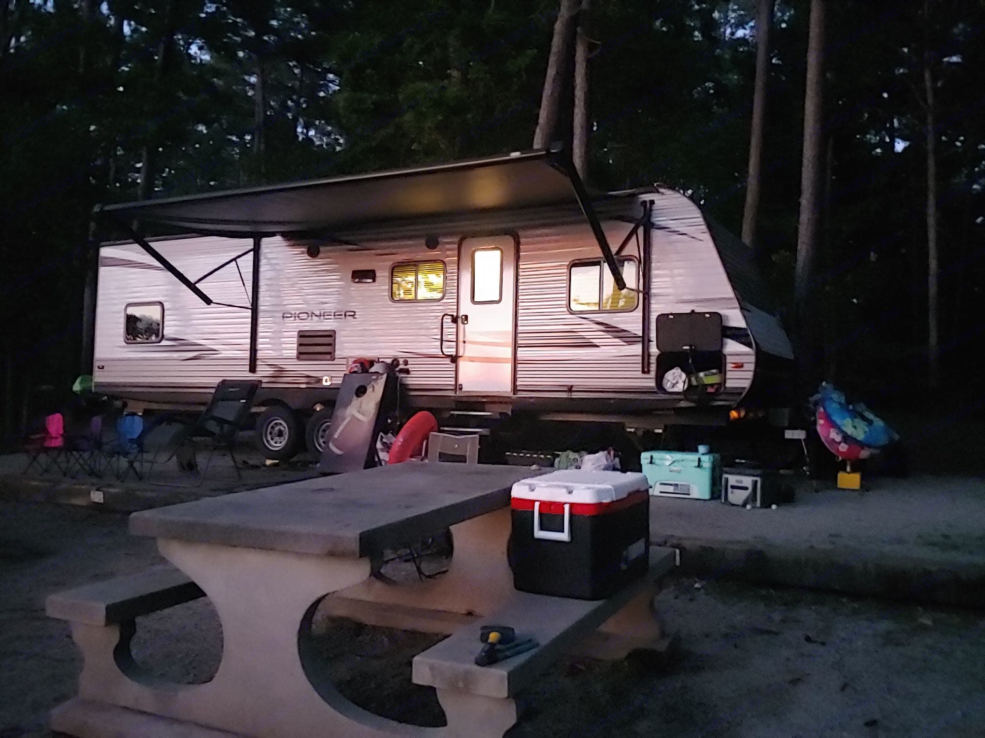 Camping at Mistletoe State Park in Appling, GA on Lake Thurmond.. Heartland Pioneer 2019