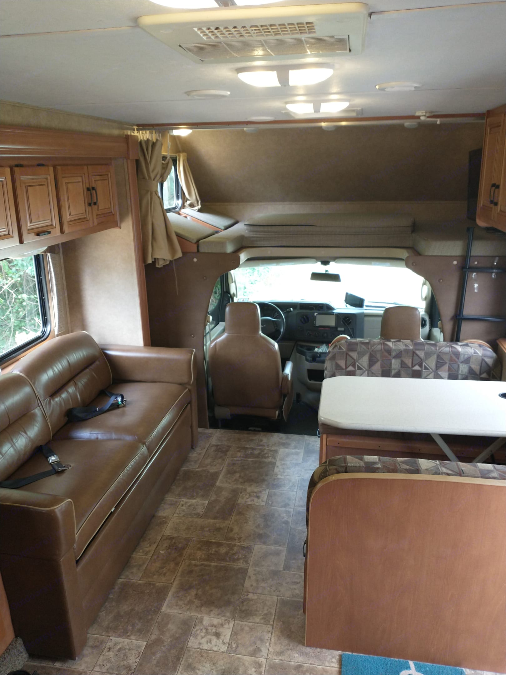 Living area with slide out.. Forest River Sunseeker 2014