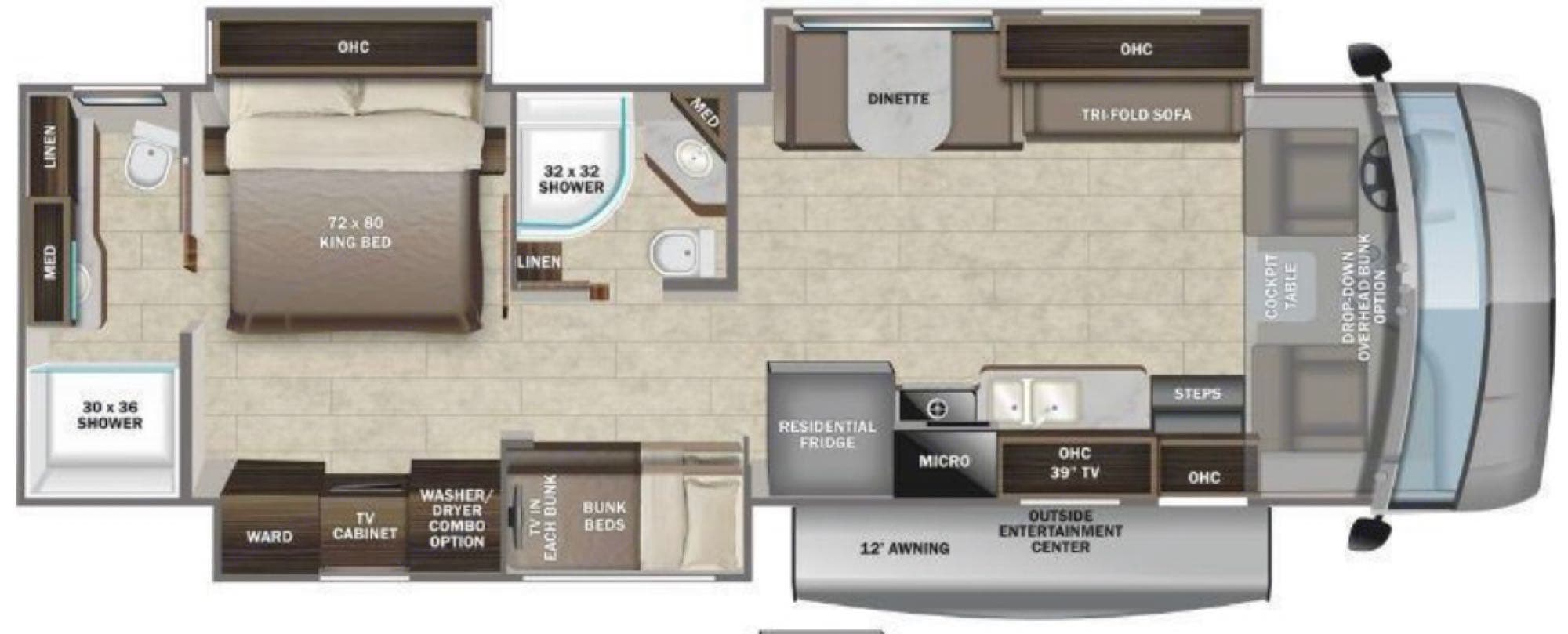 spacious floorplan. Entegra Coach Other 2022