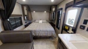 Comfortable Queen Size Bed  . Jayco Flight 2020