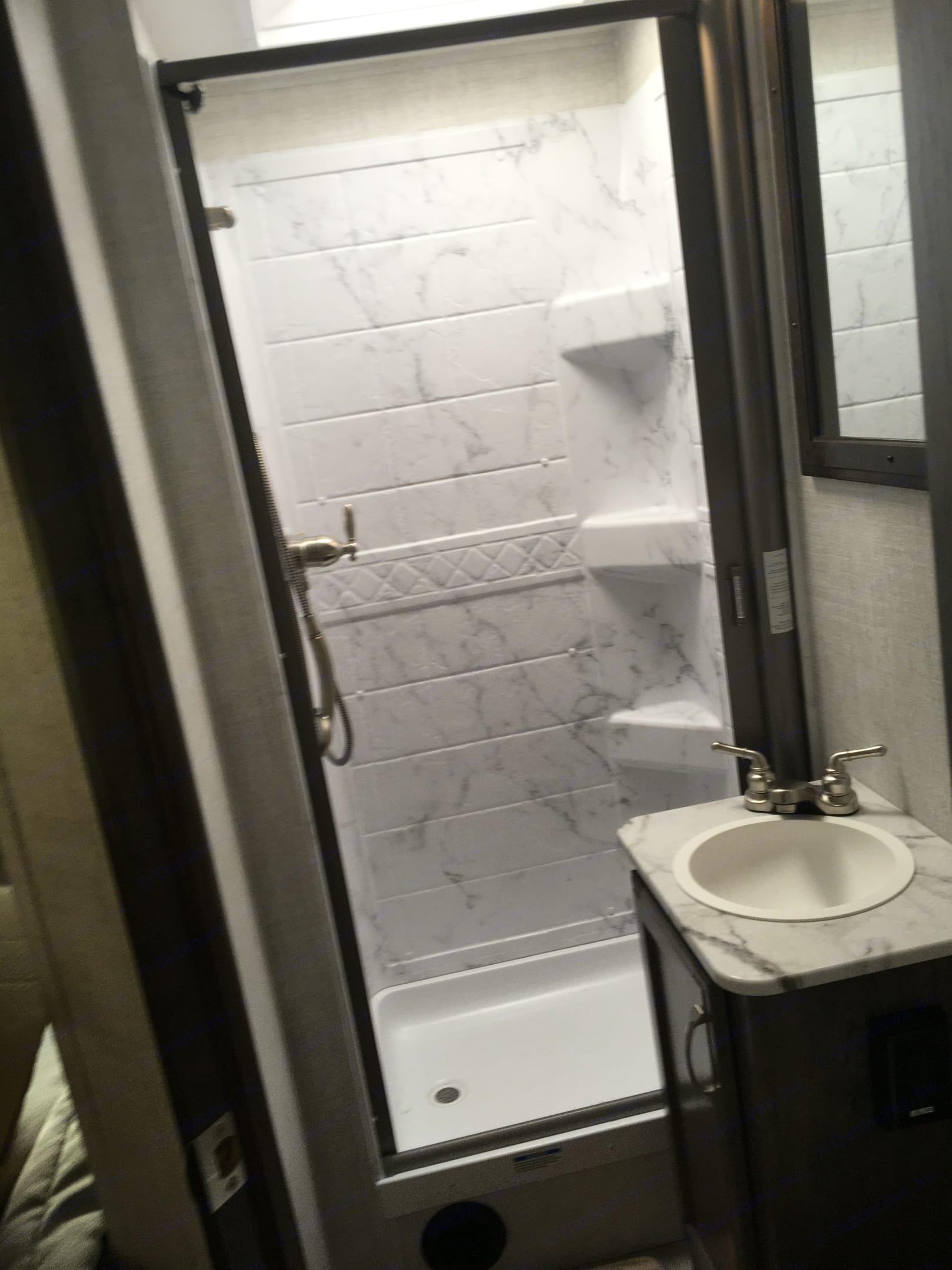 Good bathroom size . Gulf Stream Conquest 2021