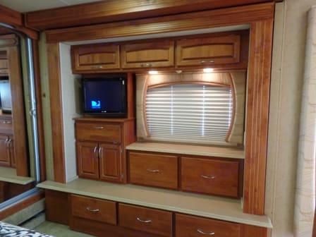 Bedroom TV and Dresser. Holiday Rambler HR Ambassador 2008