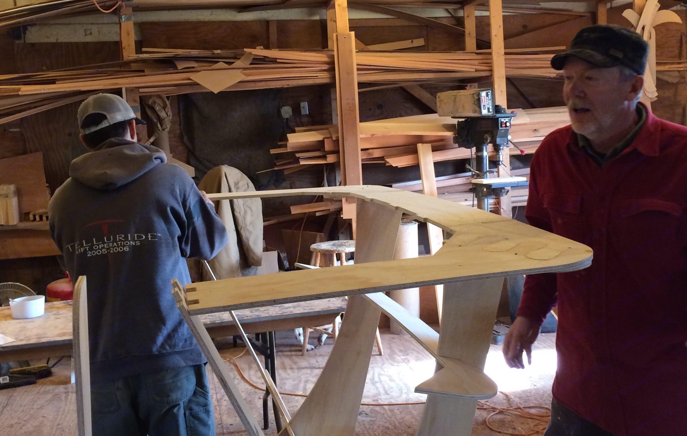 Building the mold.. Chesapeake Light Craft Teardrop Trailer 2015