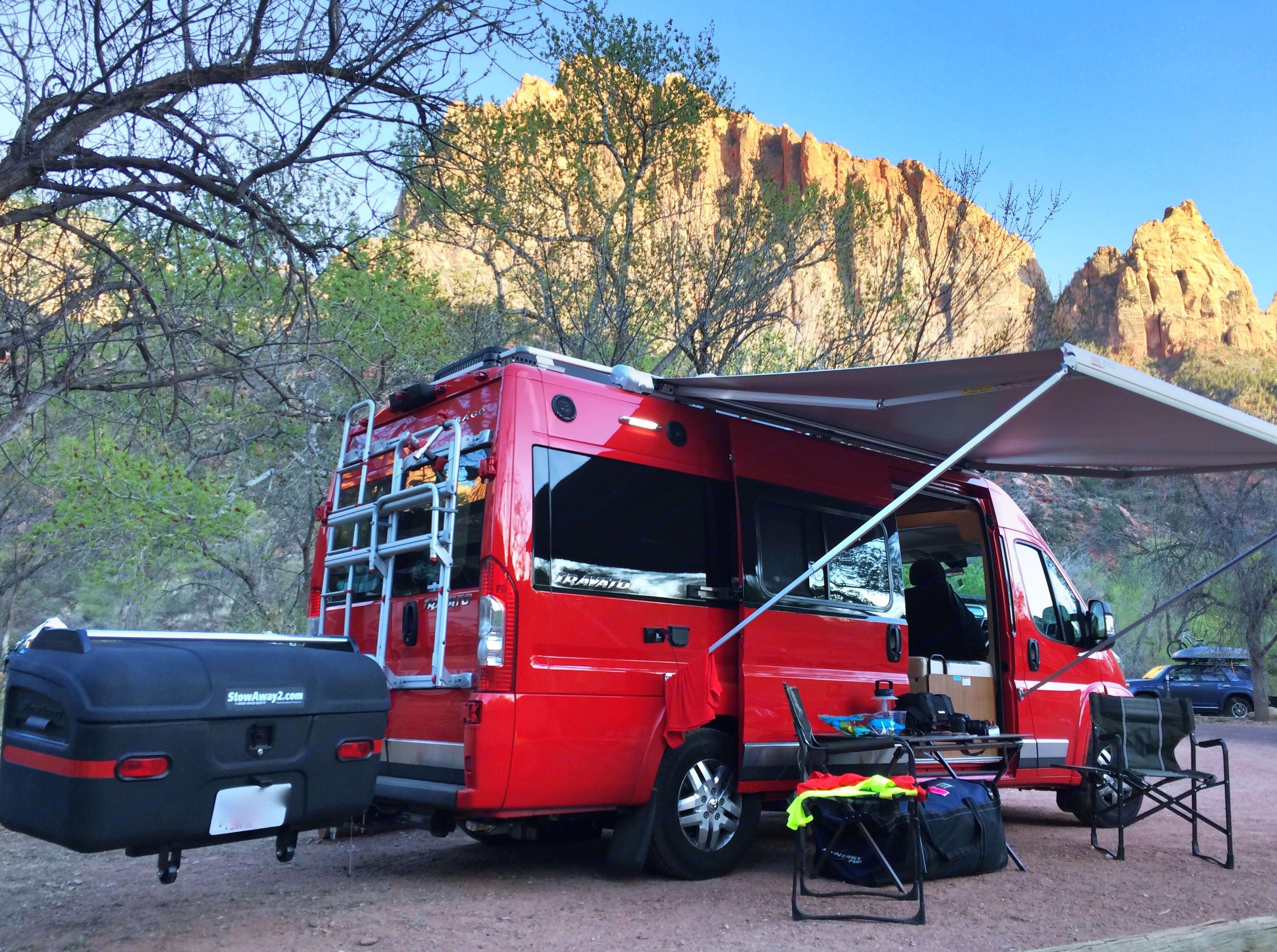 Watchman's Campground, Zion NP, Utah. Winnebago Travato 2015