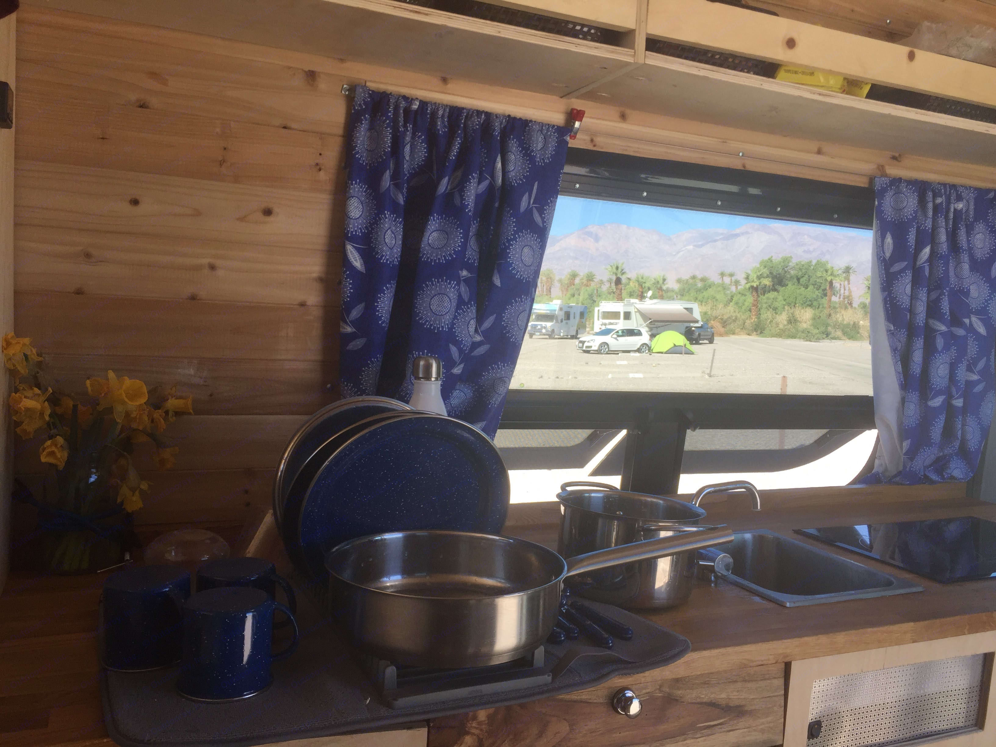 The van comes equipped with all necessary cooking and dish ware. There is a 15 gallon water tank. . MB Sprinter 2016