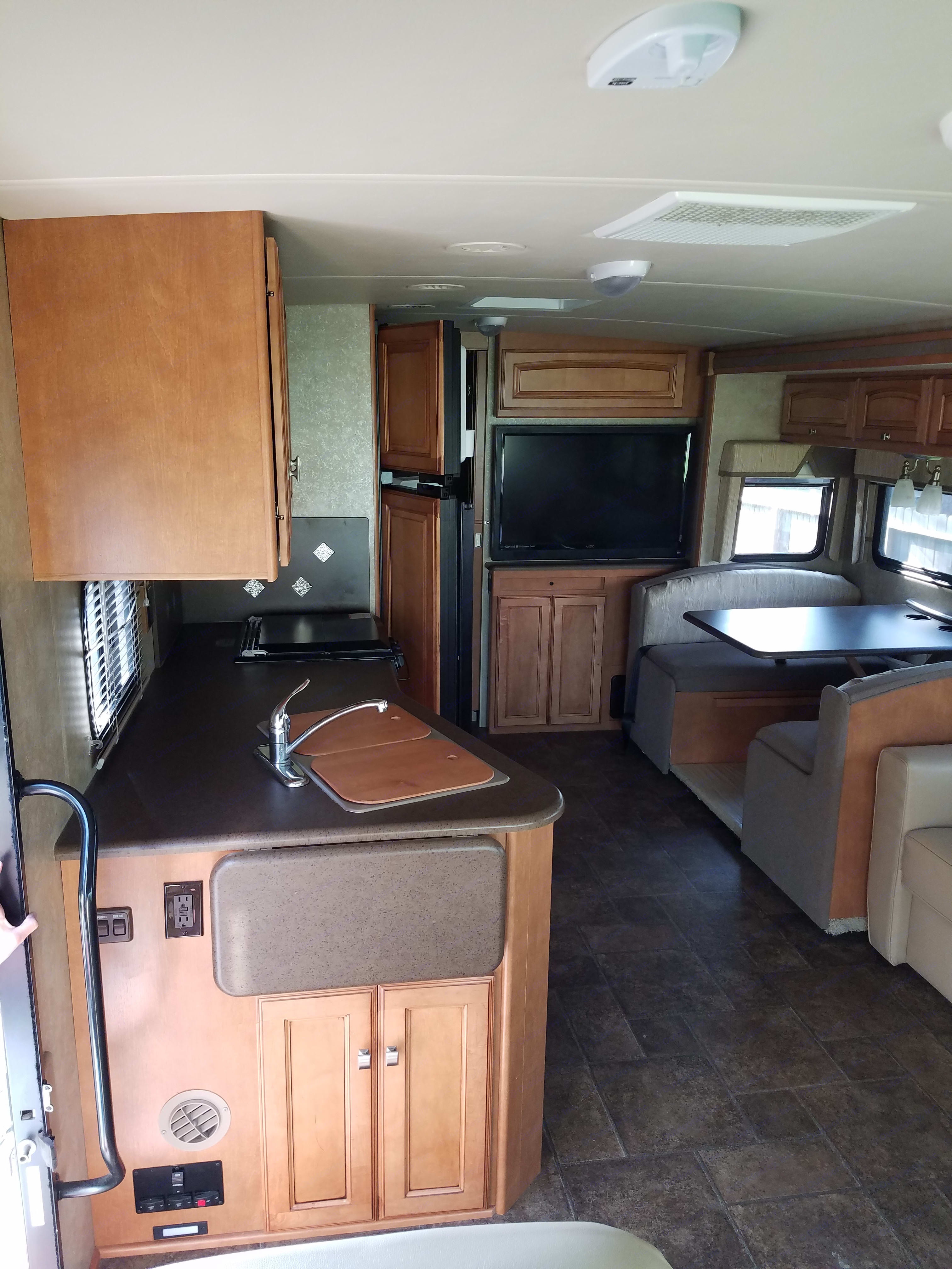 As soon as you walk in to the left.. Winnebago Vista 2013