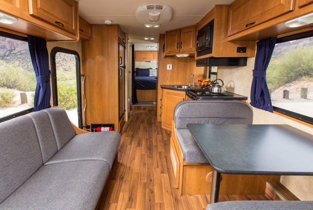 Couch and table. Thor Motor Coach Majestic 2012