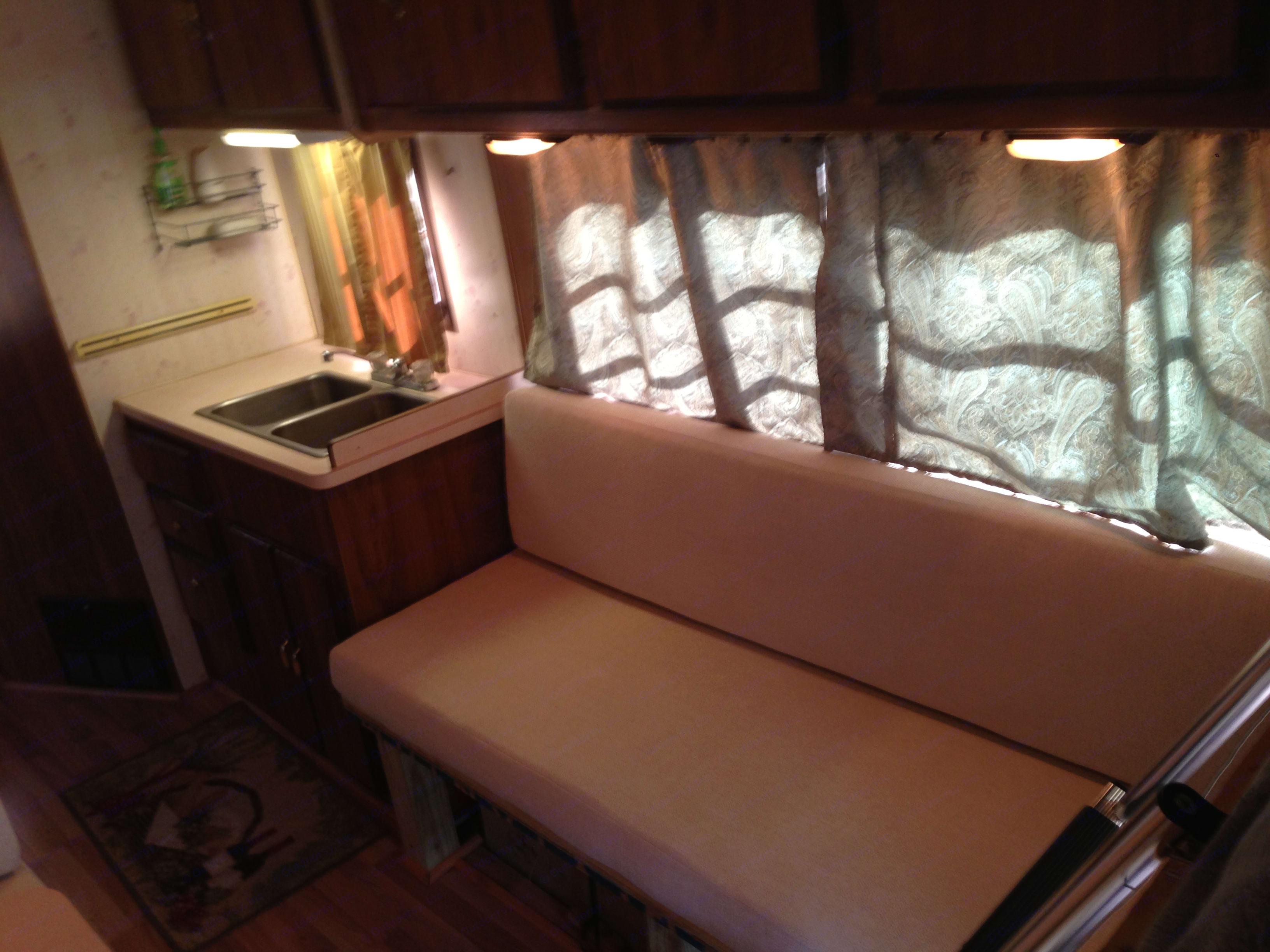 freshly upholstered sofa-sleeper, new elegant curtains! . Coachmen Catalina 1989
