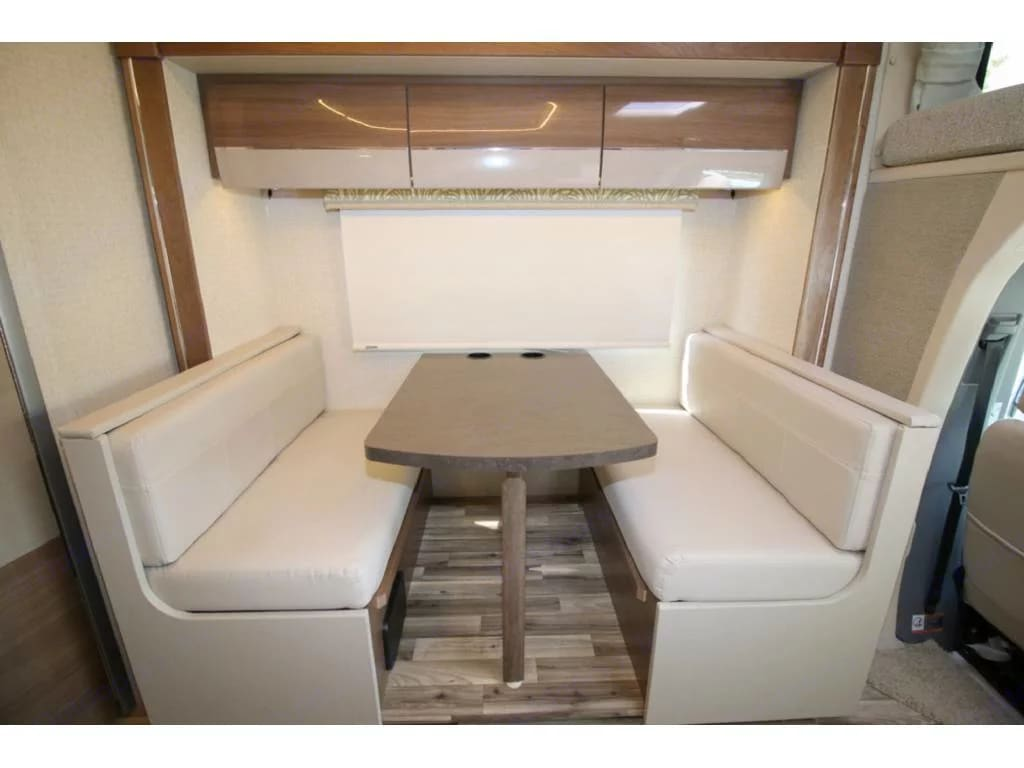 can be made into a bed, 42 x 74. Winnebago Navion 2017