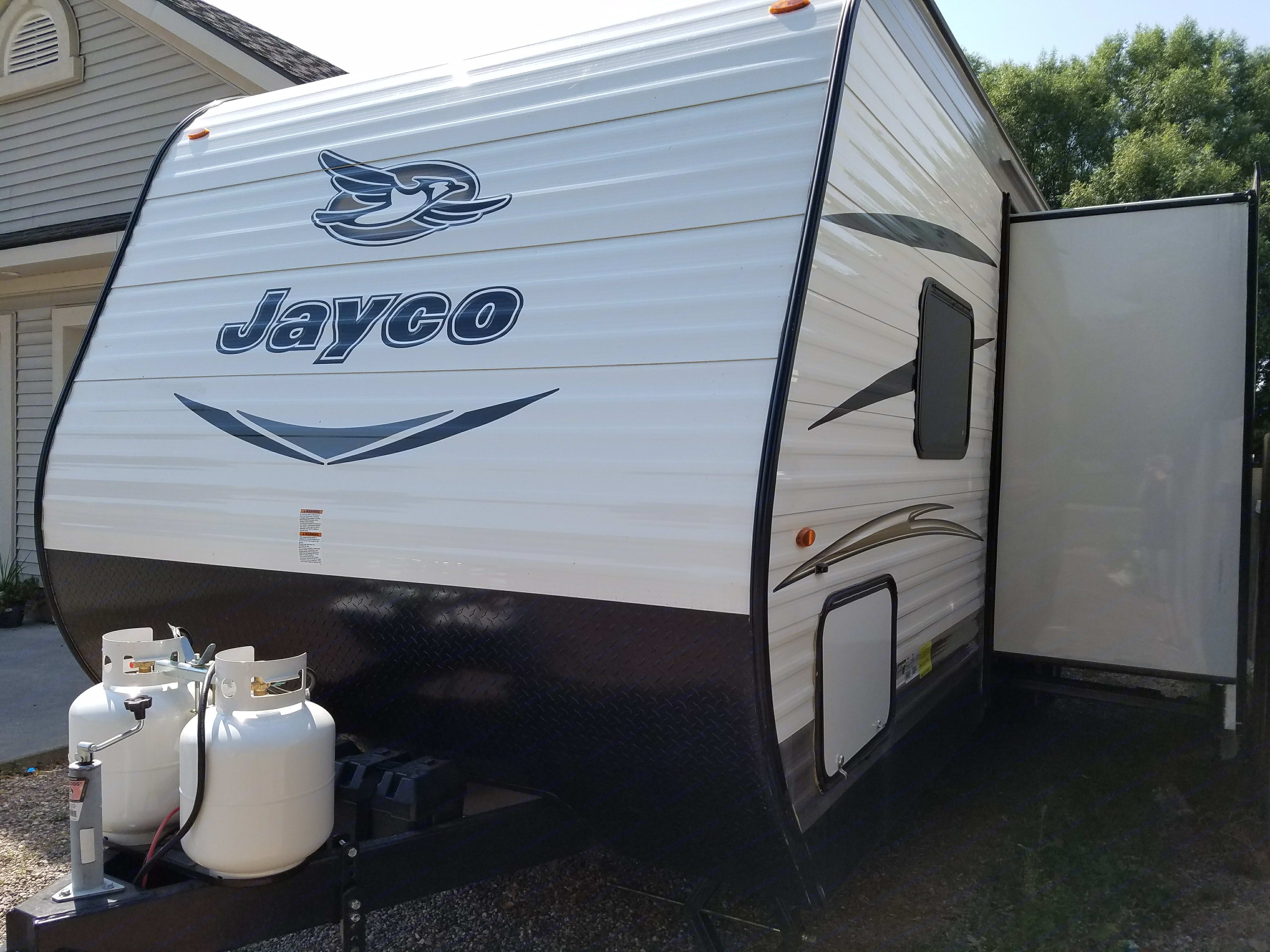 Slide out gives plenty of room inside.. Jayco Jay Flight 2017