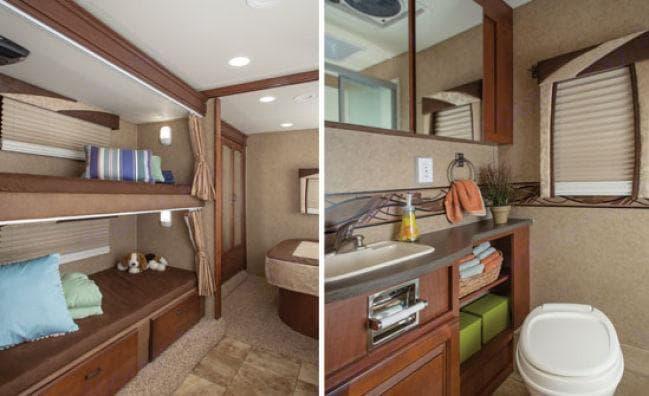 Bunks / Bathroom. Jayco Greyhawk 2014