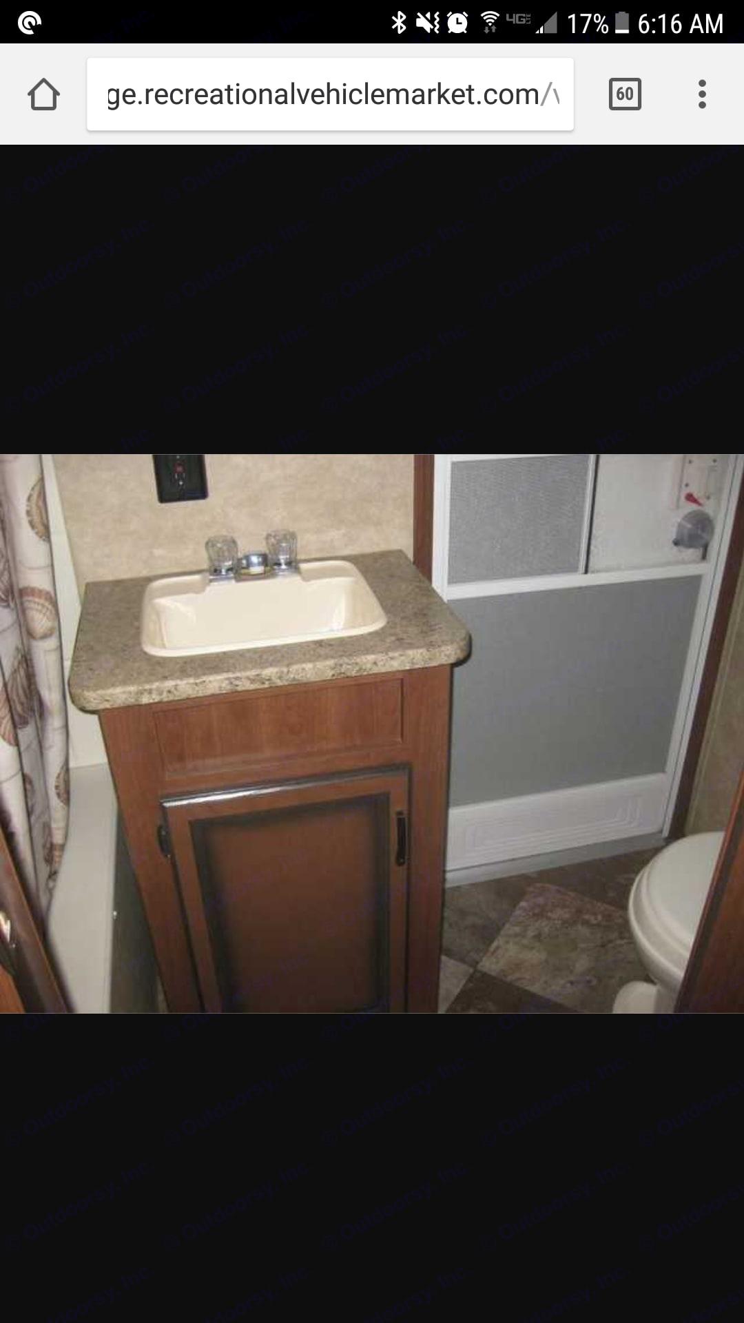 Bathroom has a tub for the kids. Crossroads Zinger 2013