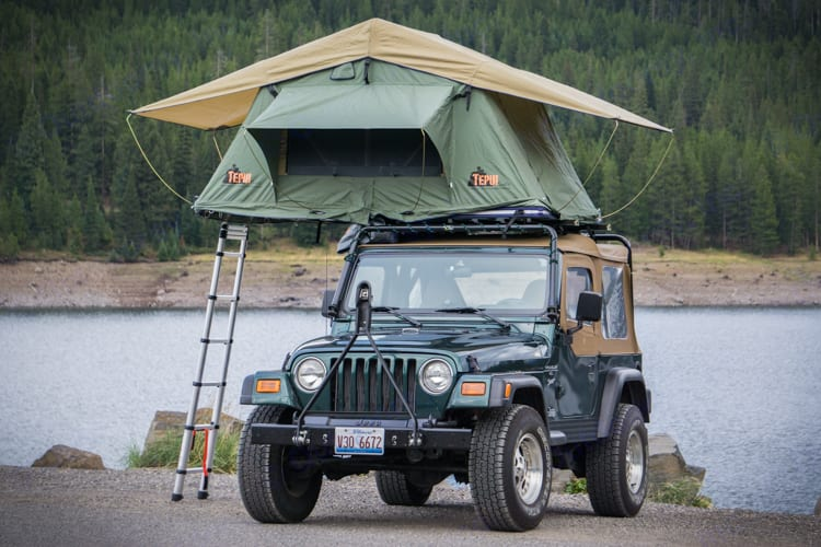 You've always wanted to drive one, you've always wanted to sleep in one, now you've got your chance.  . Jeep Teipu 1999