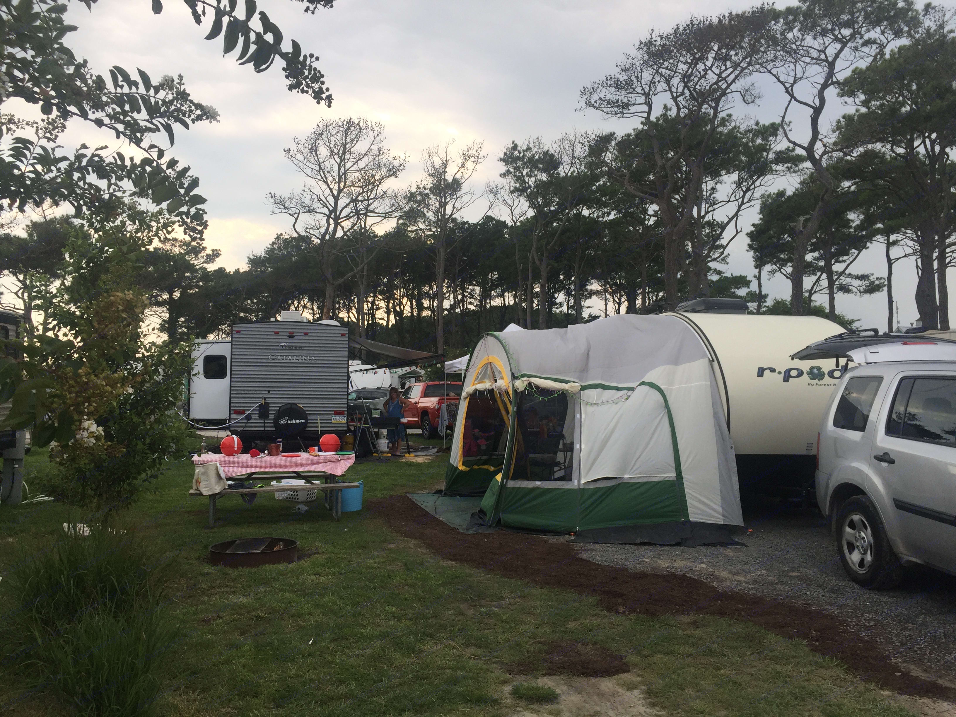 At the Castaways OC resort in OC, MD. R- dome provides additional living space and shelter. . Forest River R-Pod 176T 2013