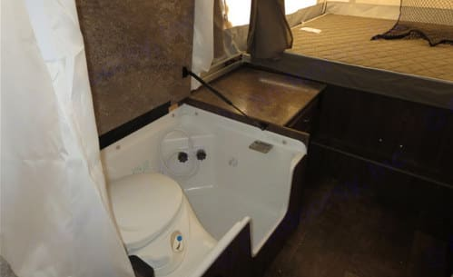 Bathroom. Forest River Flagstaff 23SCSE 2019