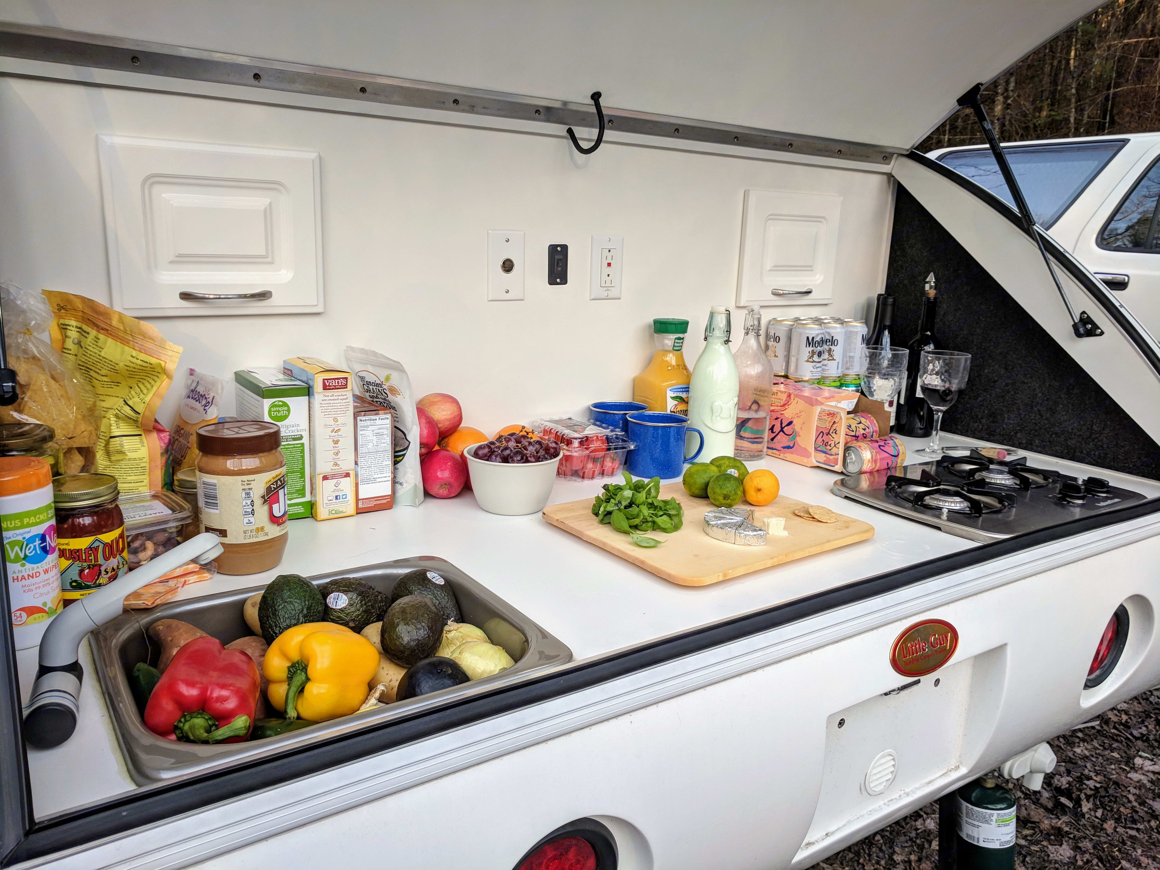 Rear Galley with plenty of space for food preparation. Little Guy 6wide Sport 2016