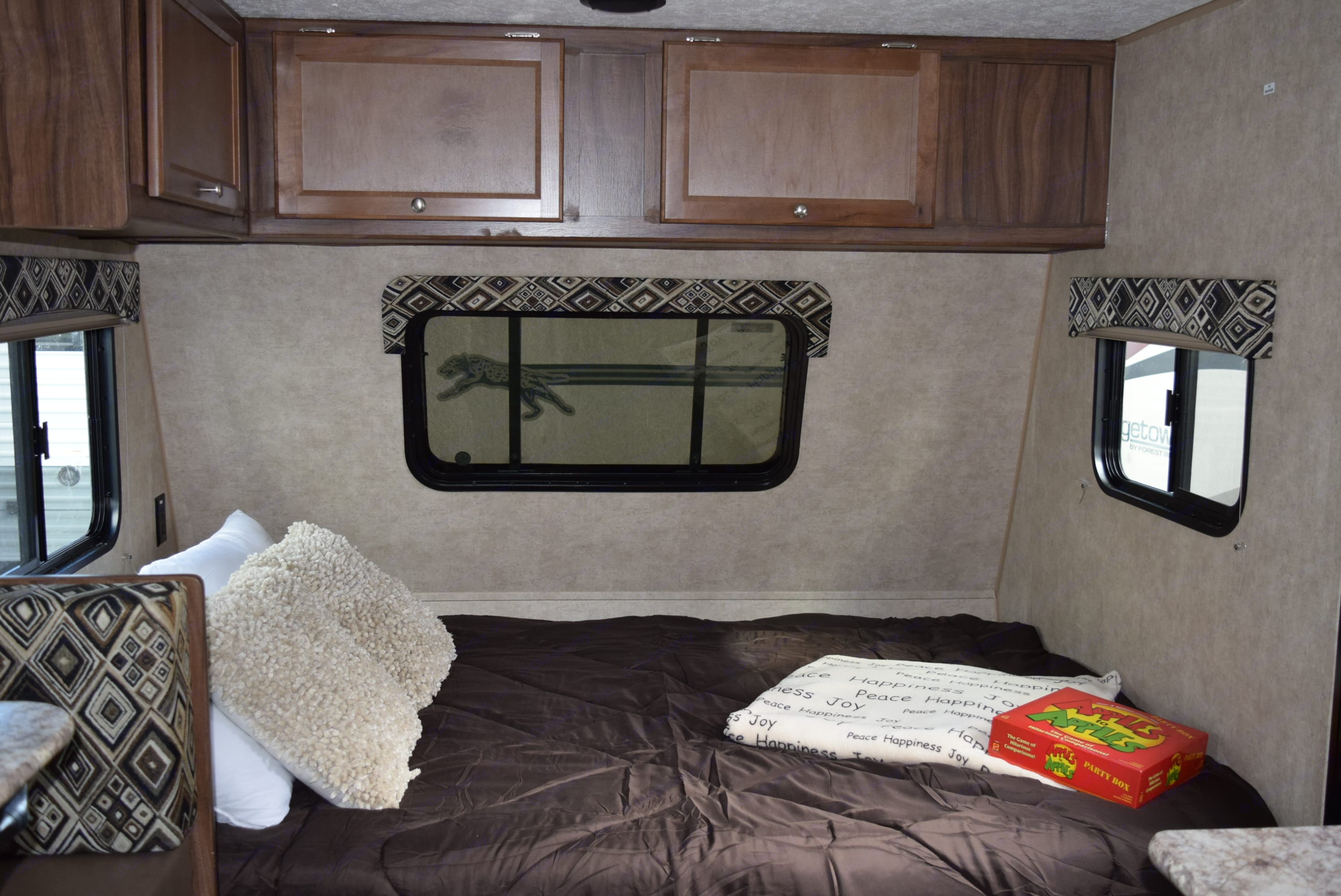 Full bed is really comfortable!. Coachmen Clipper 2018