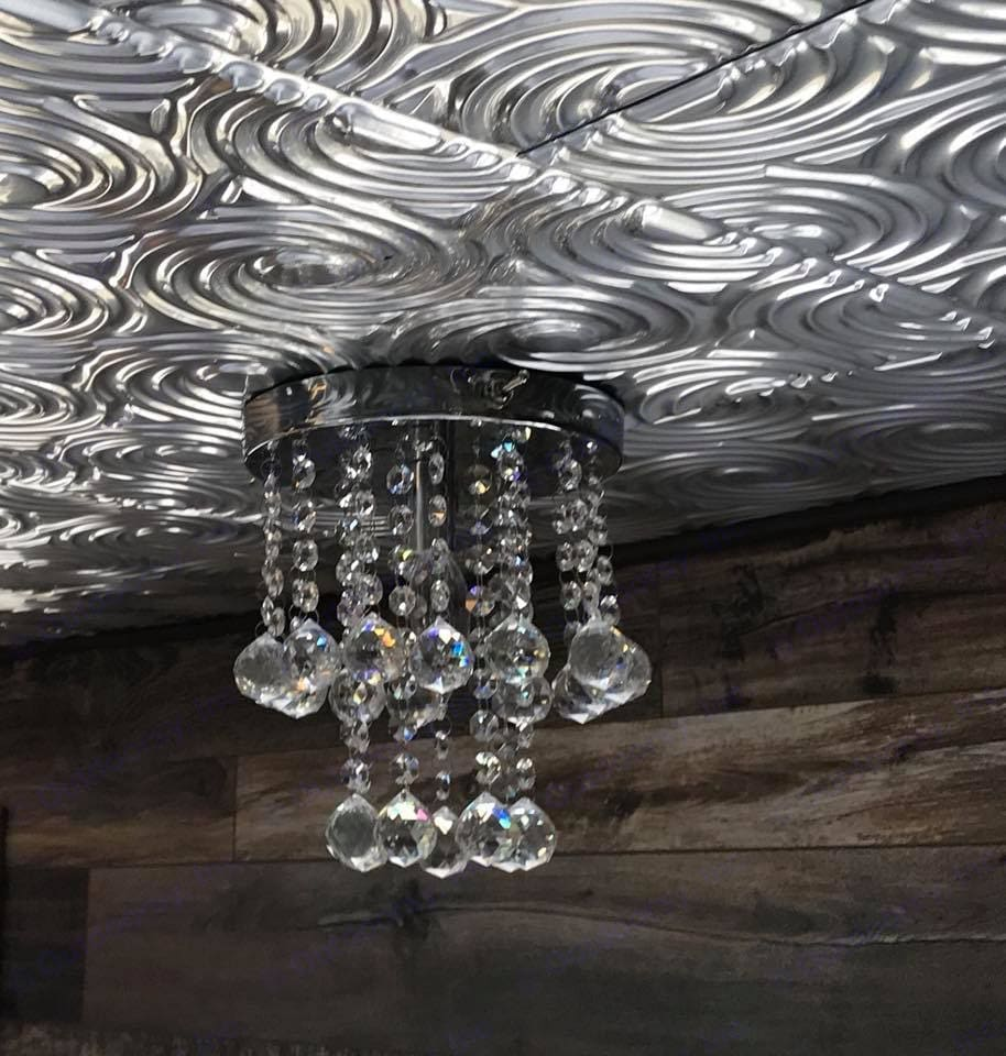 Tin ceilings -lots of light. Coleman twilight bungalo 1972