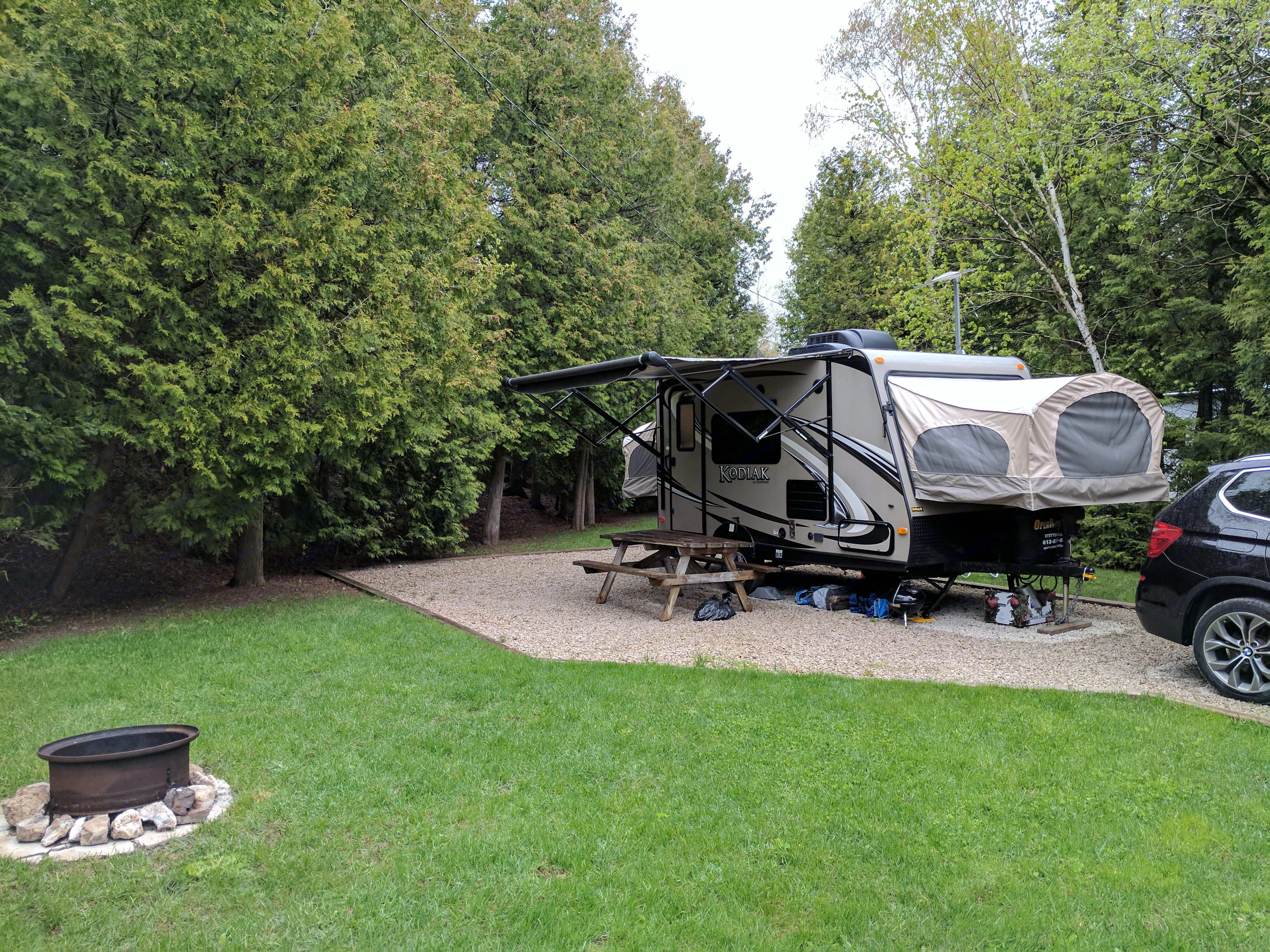 All setup for some camping fun!. Dutchmen Kodiak 2013