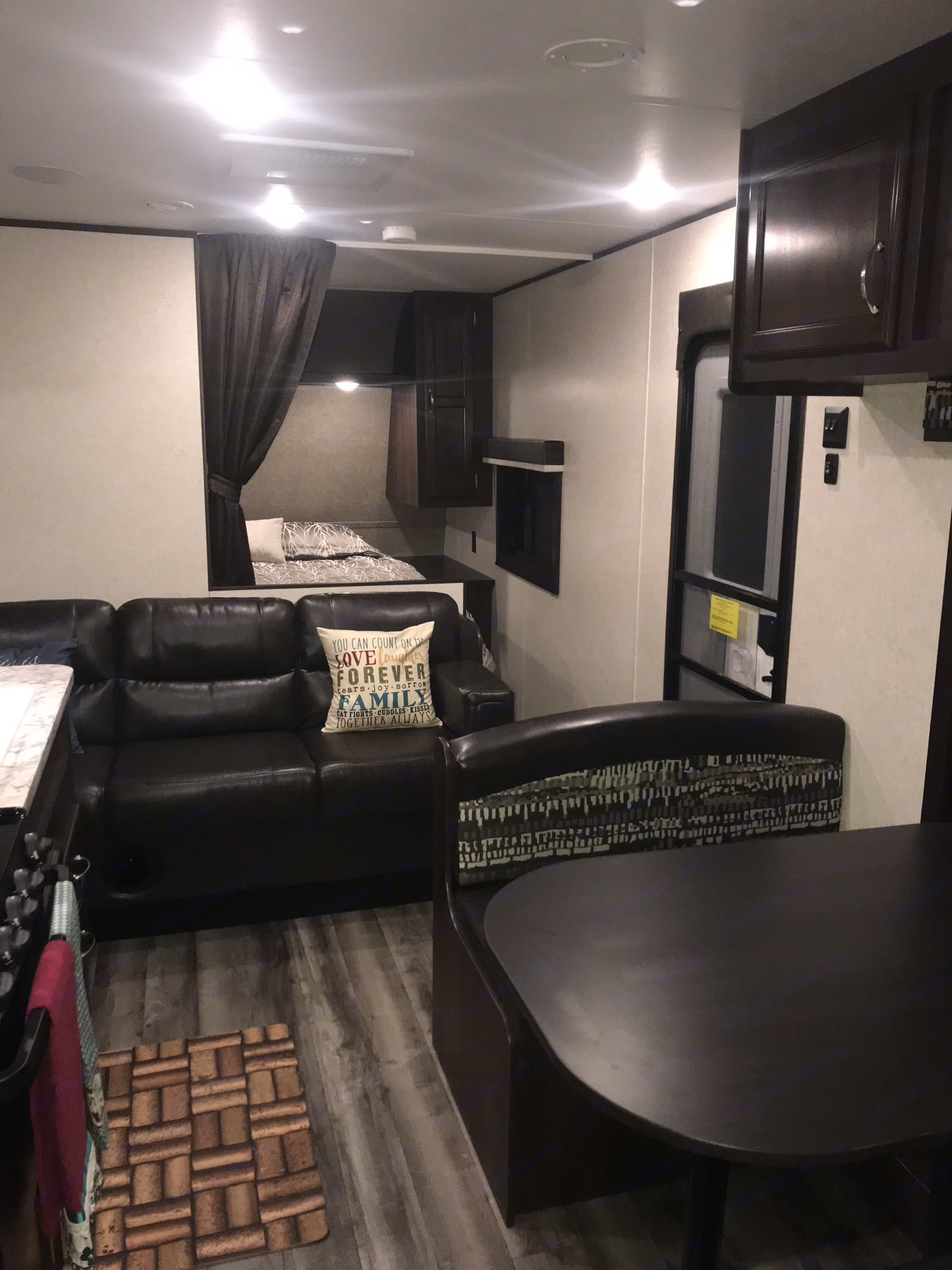Living Room with Comfy Jack-Knife Couch . Jayco Jay Flight 2018