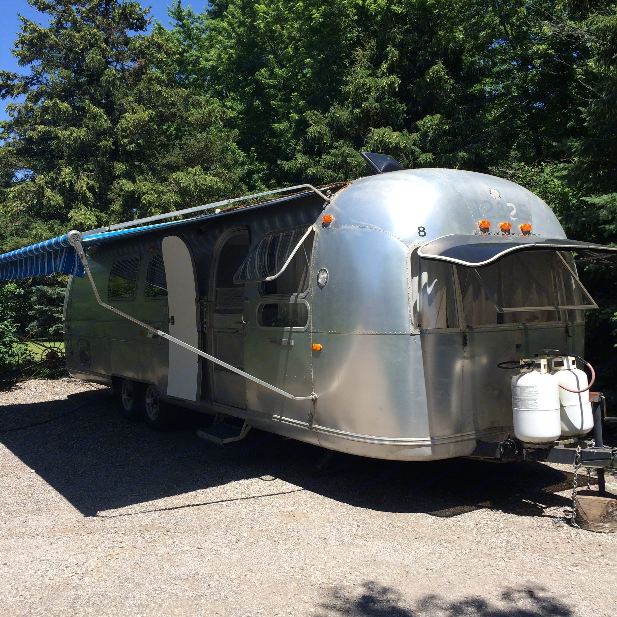 Set up for camping in style!. Airstream Land Yacht 1969