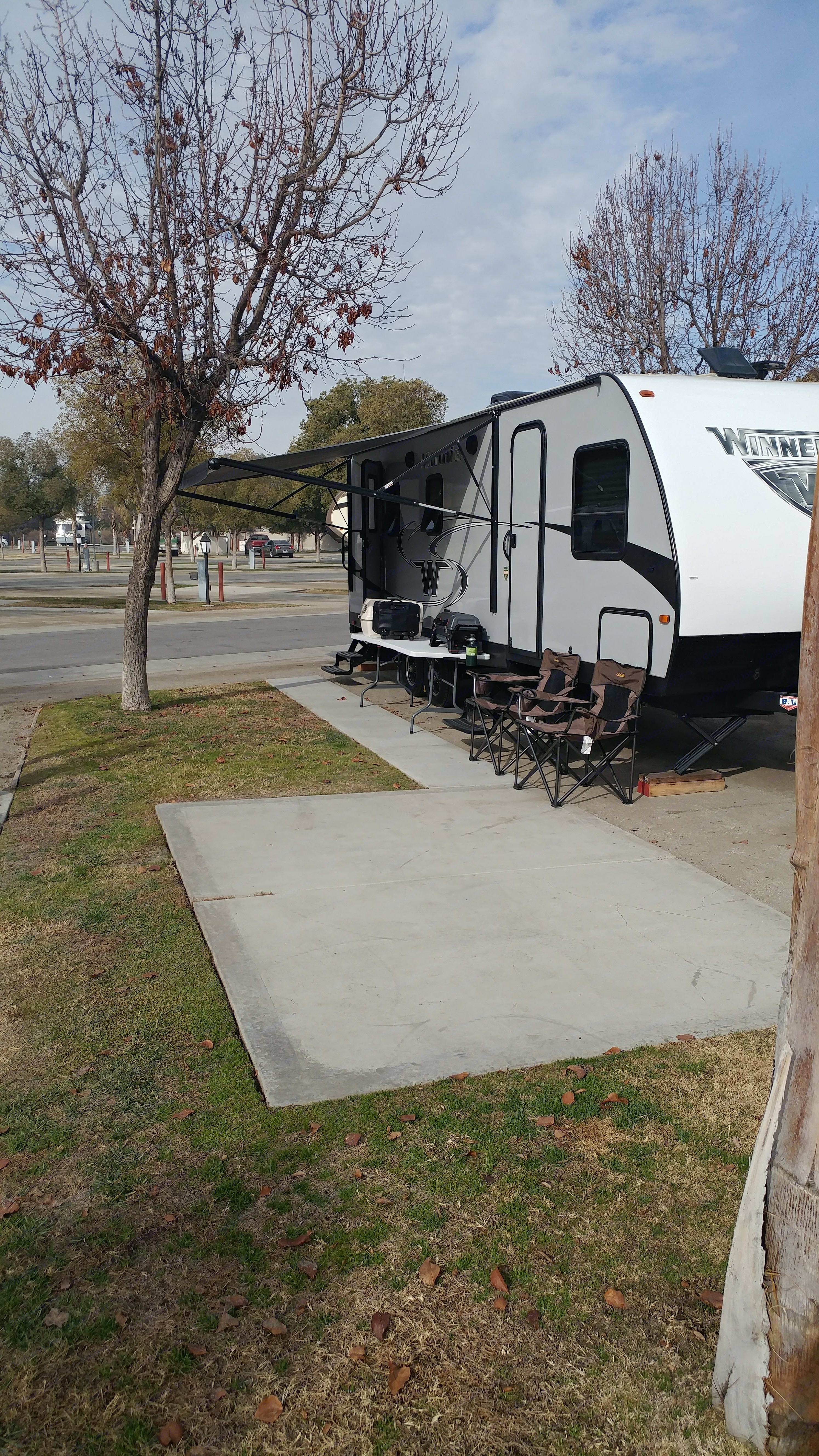 Rig includes 4 chairs and 2 tables. Propane grill and Dutch oven also available.  . Winnebago Minnie 2017