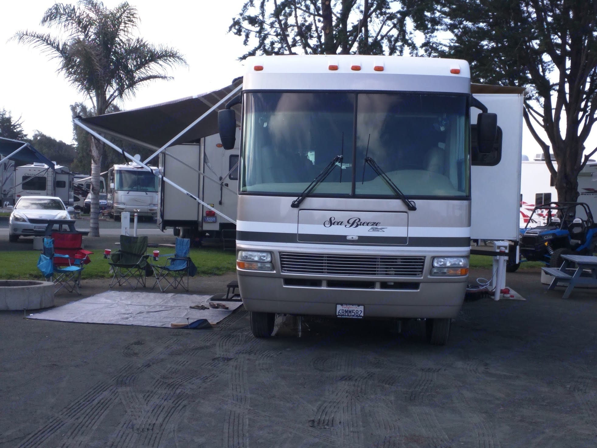 RV at rest. National Sea Breeze 2007