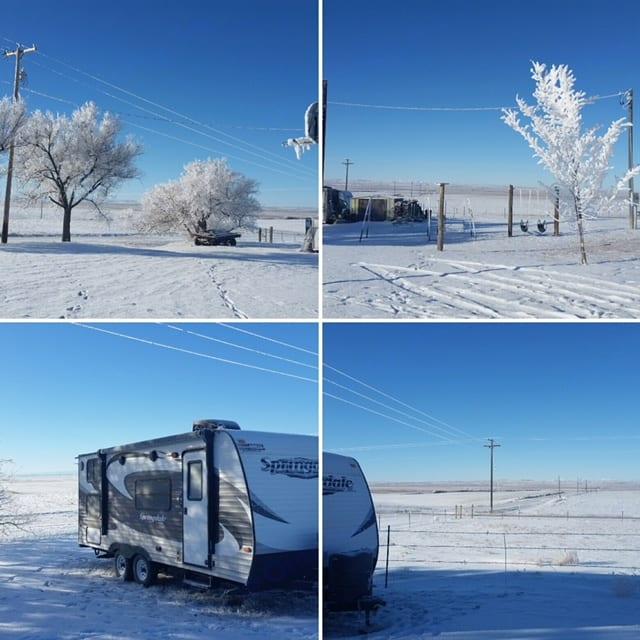 Winter in Montana . Keystone Springdale 2014