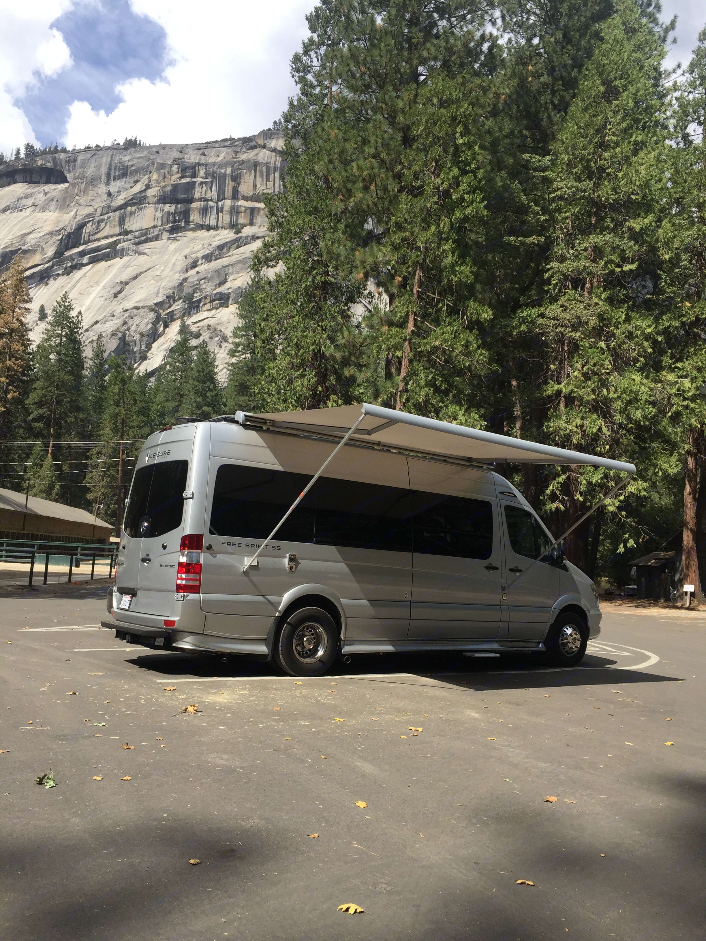 Sun is changing angle, throw out the awning. . Leisure Travel Free Spirit 2016