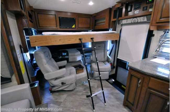 Retractable bed over driver/passenger chairs.. Fleetwood Bounder 2017