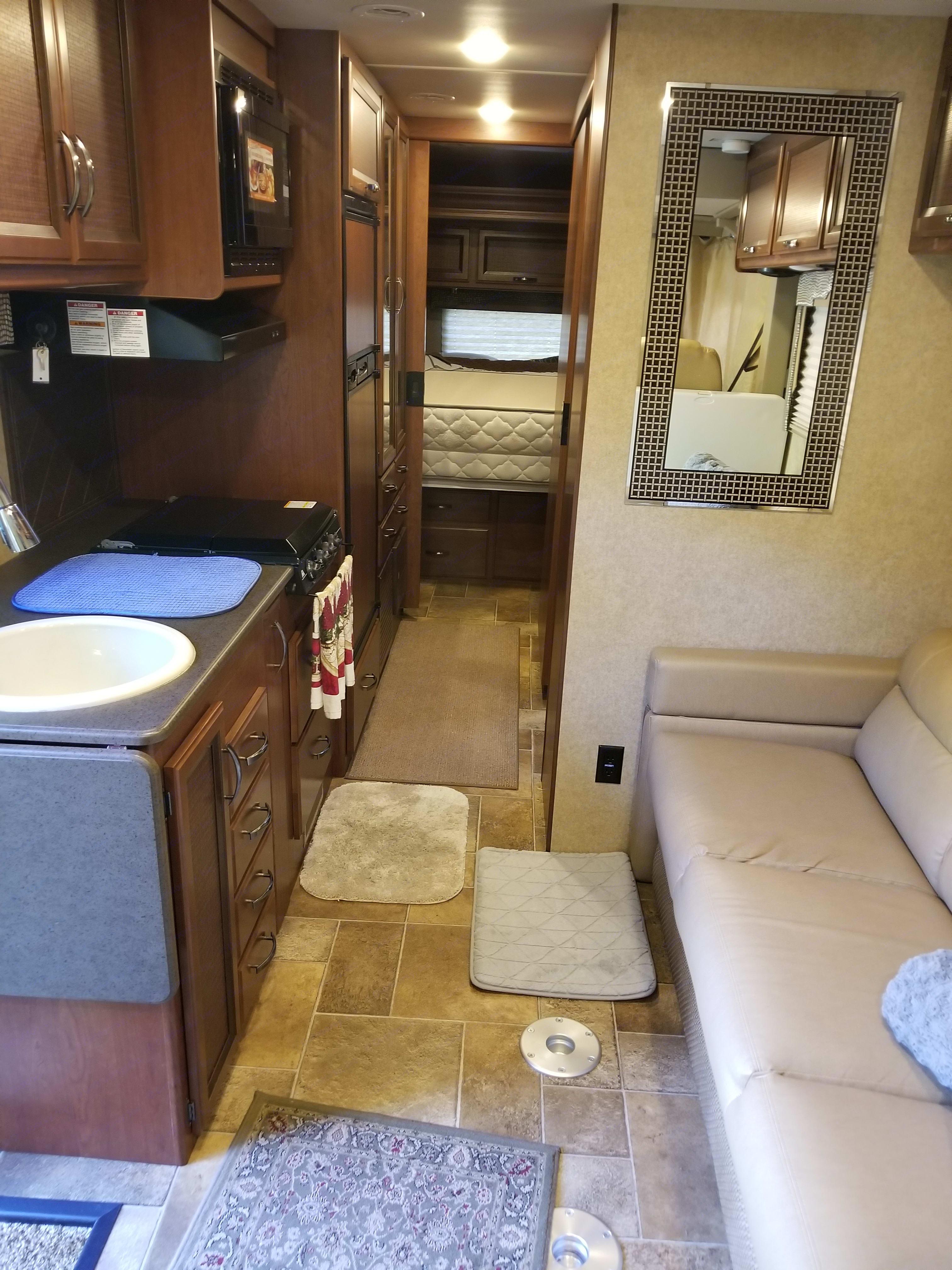 Kitchen area. Thor Motor Coach Vegas 2016