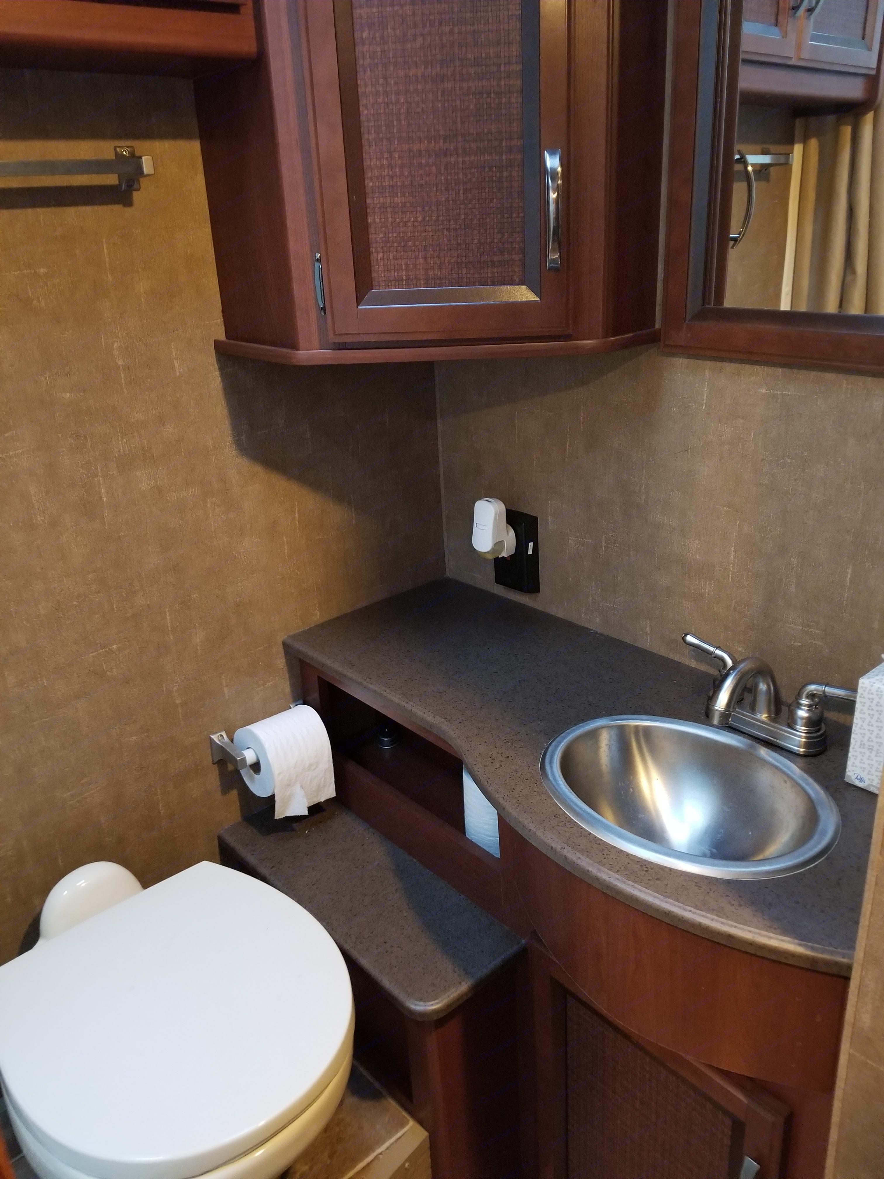 Bathroom (has full shower also). Thor Motor Coach Vegas 2016
