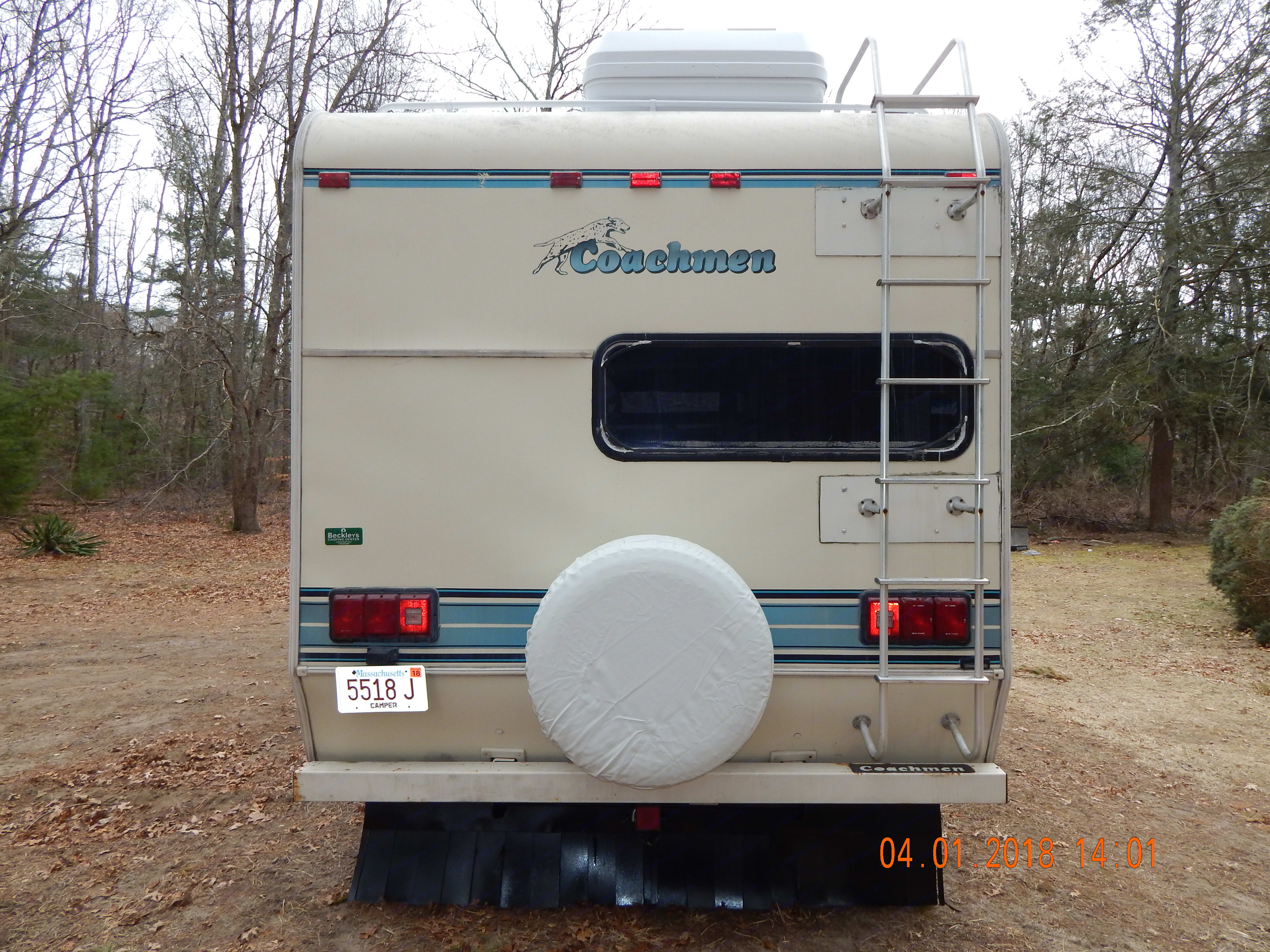 Equipped with Spare Tire. Coachmen Catalina 1994