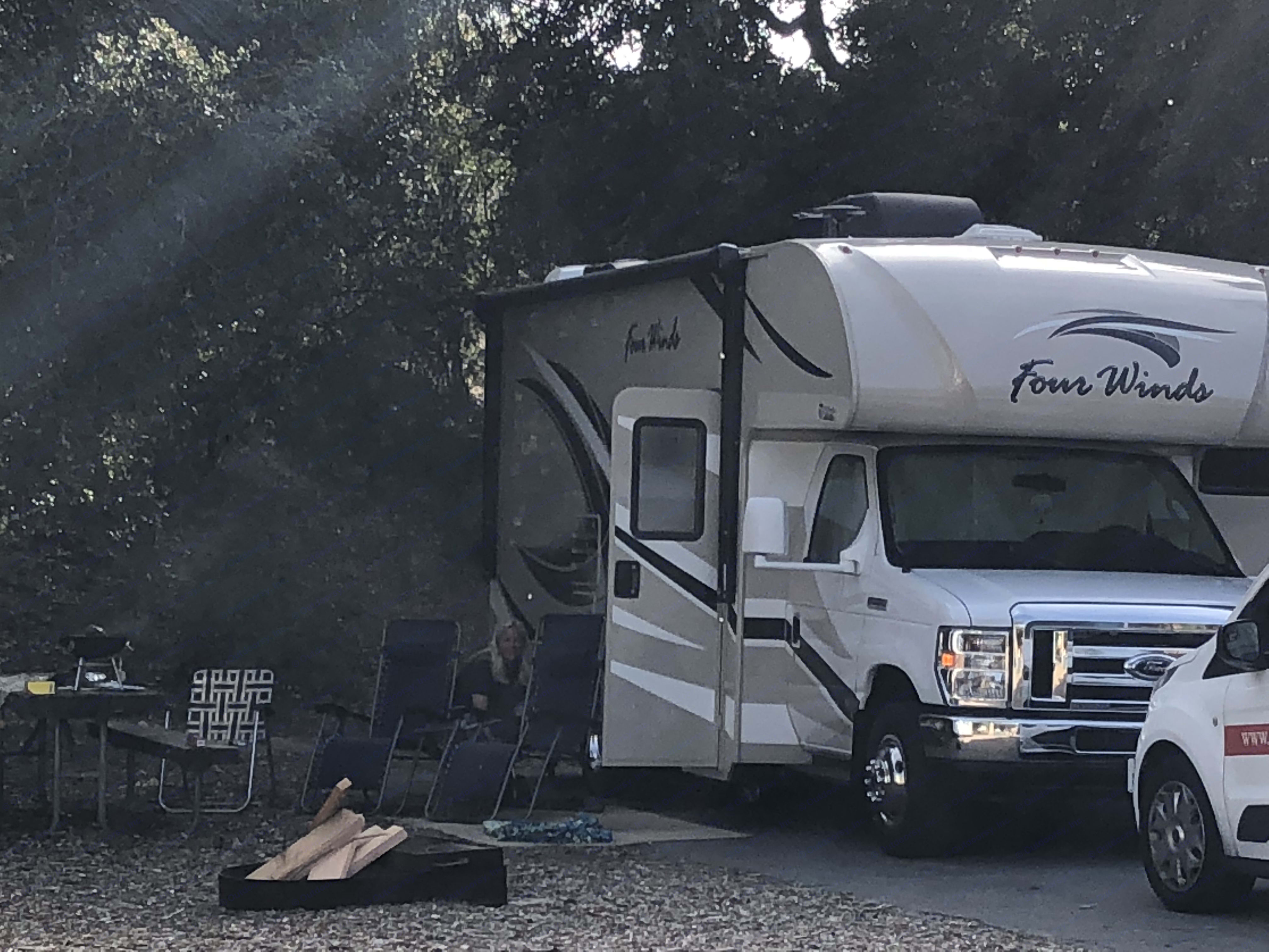 Camping at oak park April 10-14 2018. Thor Four winds 2018