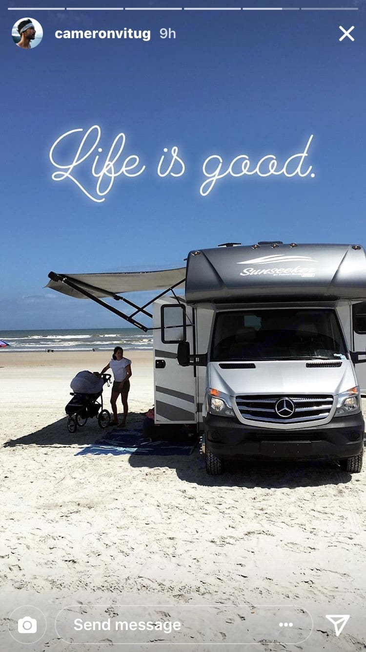 Free Beach Driving Pass in New Smyrna Beach. We park, put out the slide and setup for the entire day in front of all the ocean front places so Ocean Front Front! . ForestRiver Sunseeker 2017